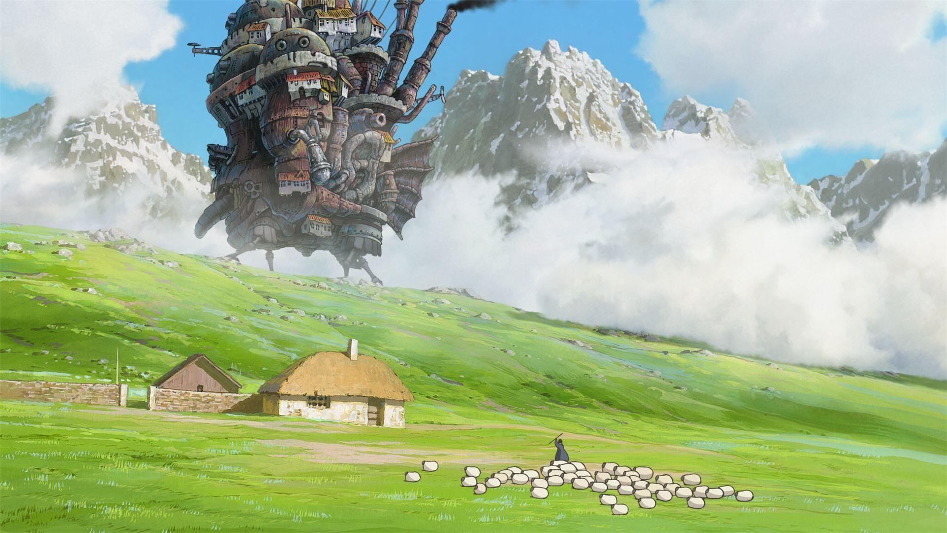 Wallpaper Landscape Anime Valley My Neighbor Totoro Studio Ghibli Alps Hayao Miyazaki Plateau Terrain Grassland Meadow Plain Screenshot