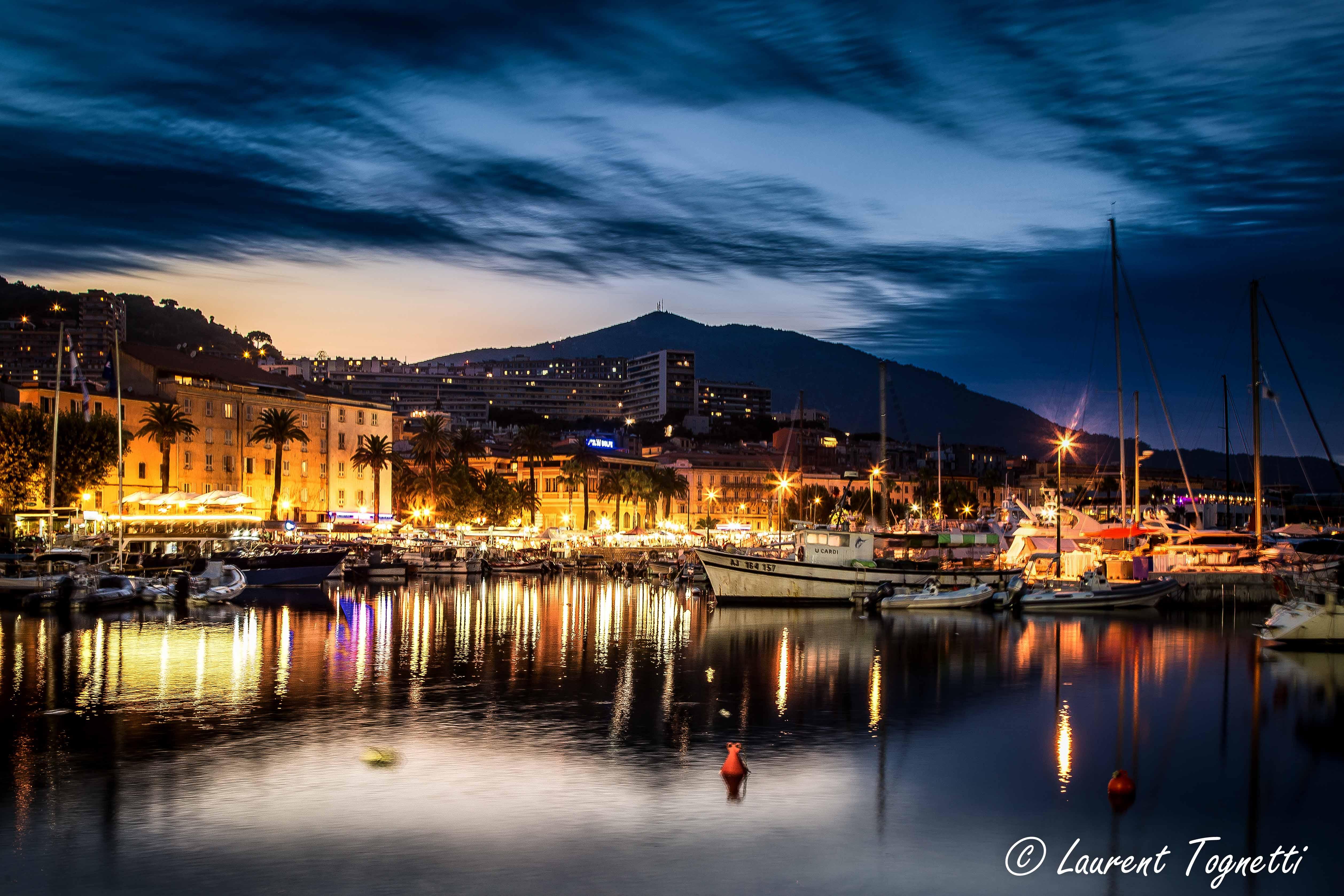 Fond d 39 cran paysage bateau le coucher du soleil mer ville paysage urbain nuit lac eau - Office du tourisme d ajaccio ...