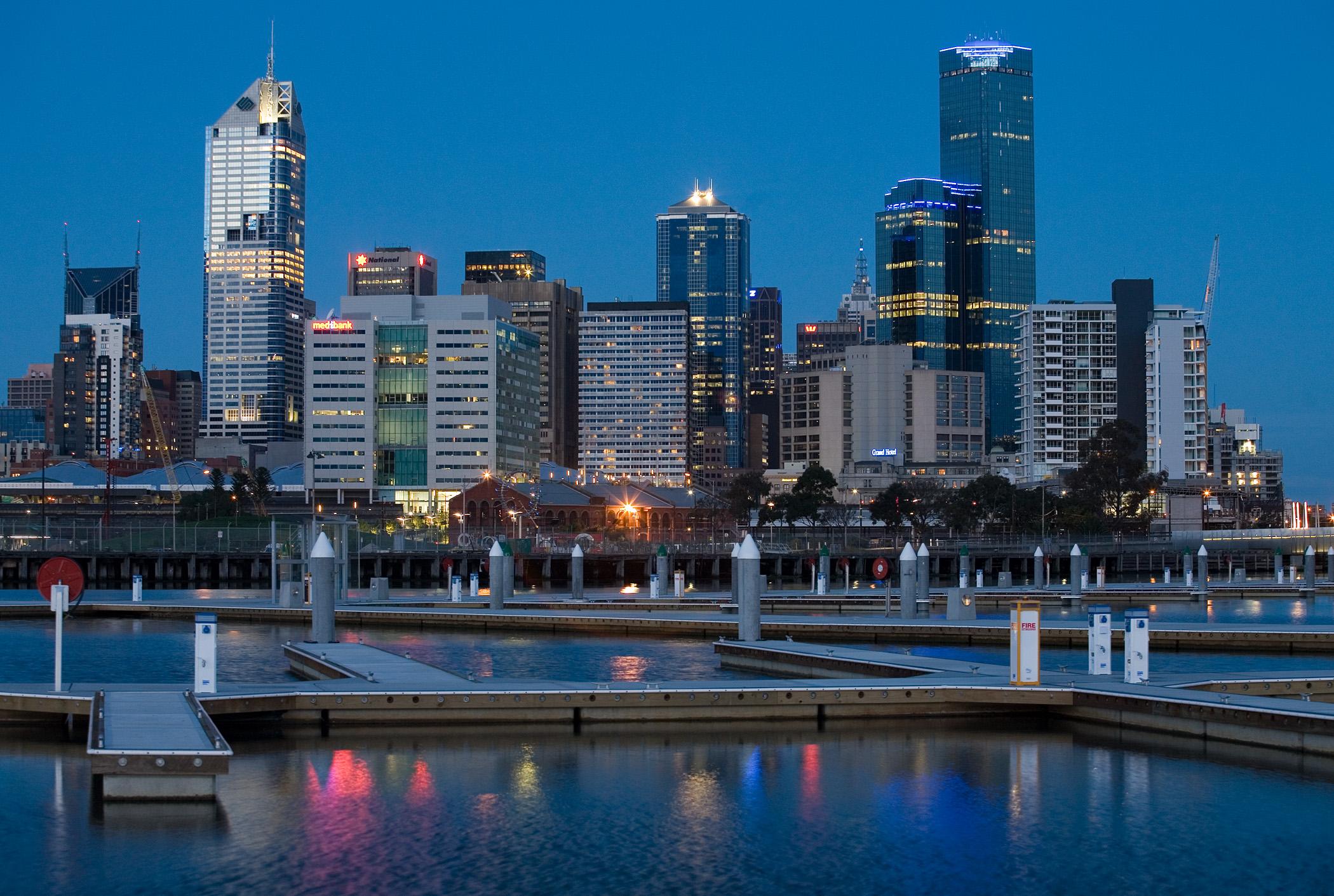 Обои melbourne, downtown, мельбурн, Australia, ночь, австралия. Города foto 14