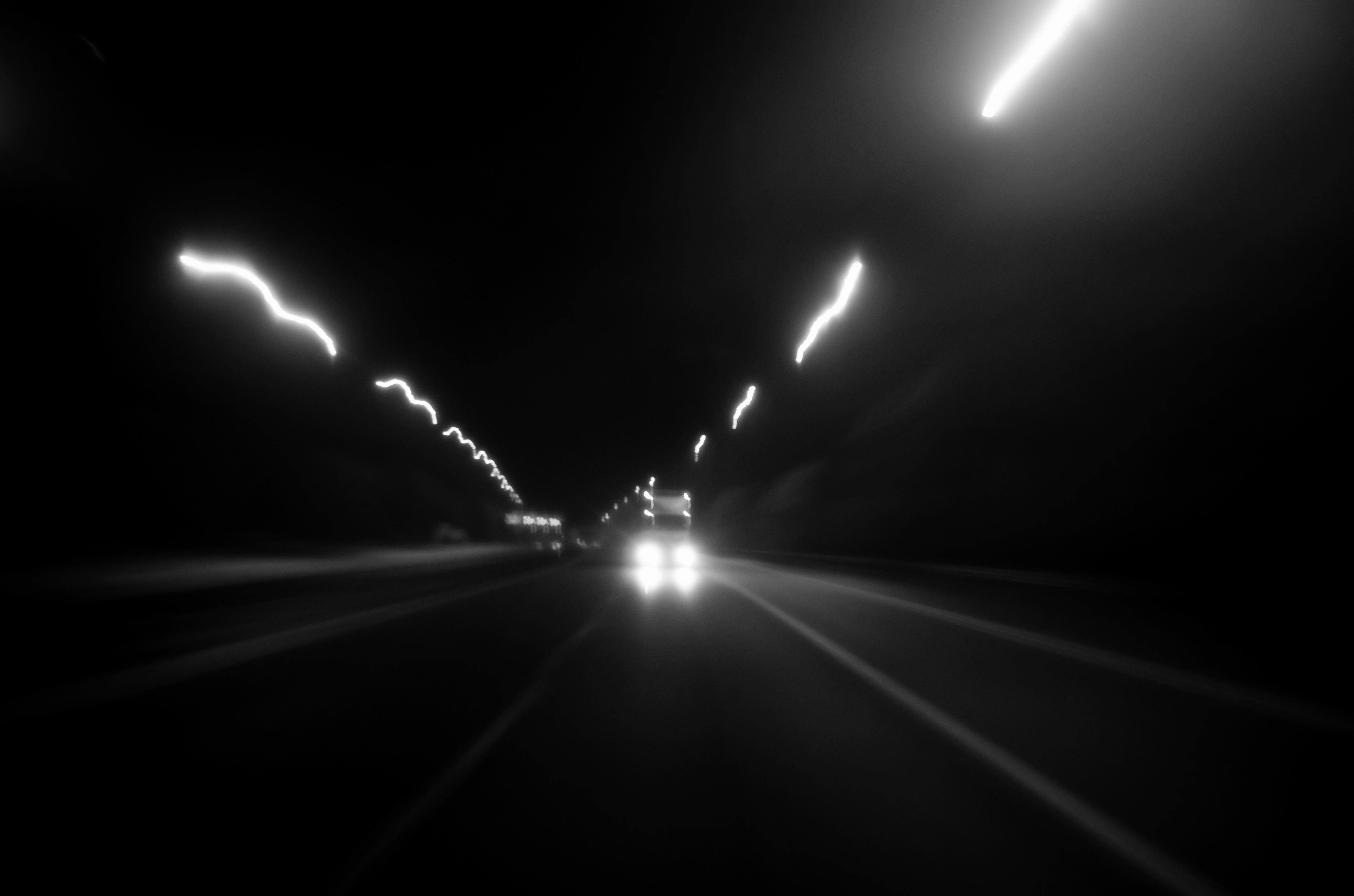 Wallpaper Landscape Contrast Street Light Dark City