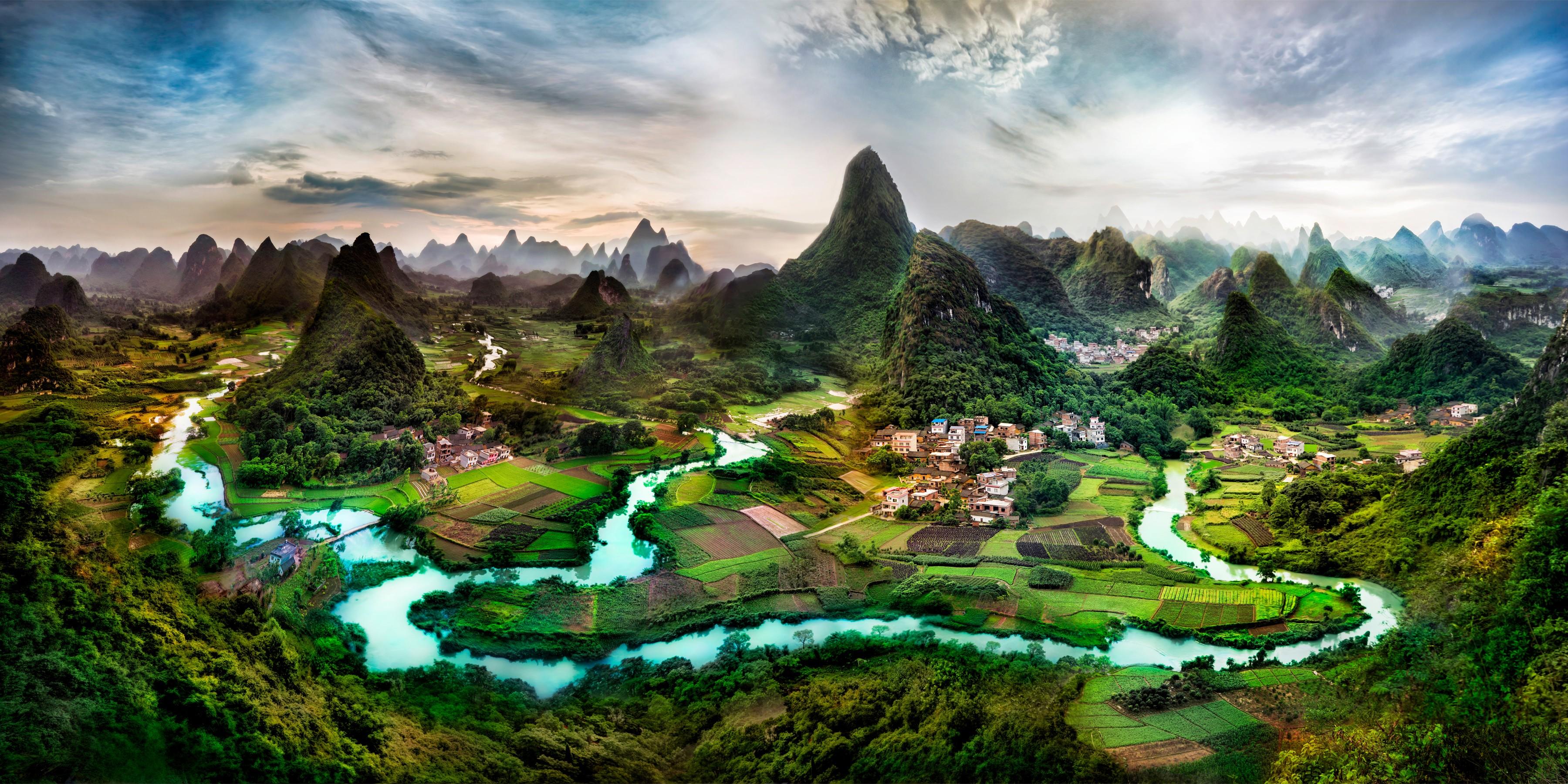 китайский пейзаж обои на рабочий стол № 501918 без смс