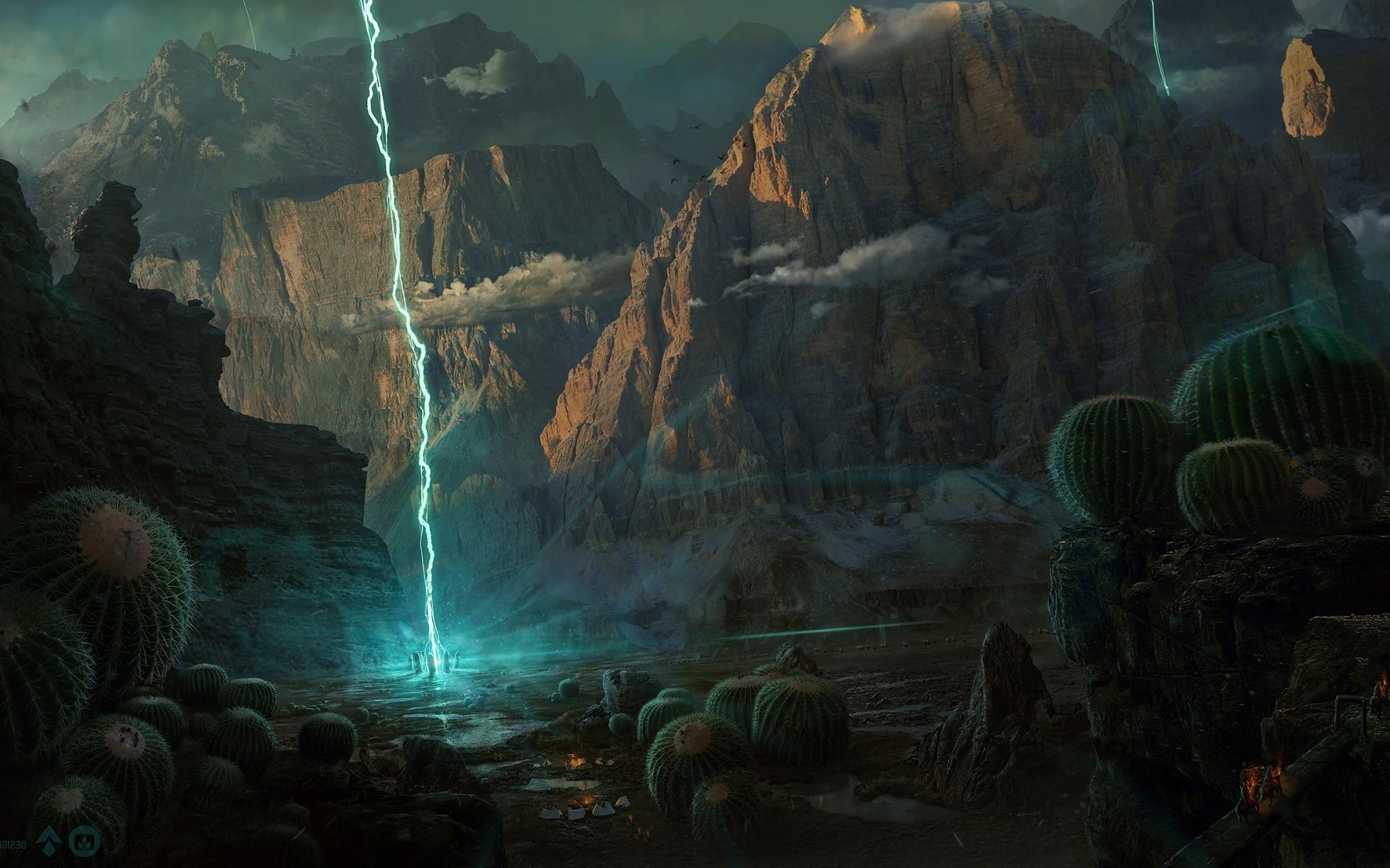 Wallpaper landscape digital art fantasy art earth - Fantasy game wallpaper ...