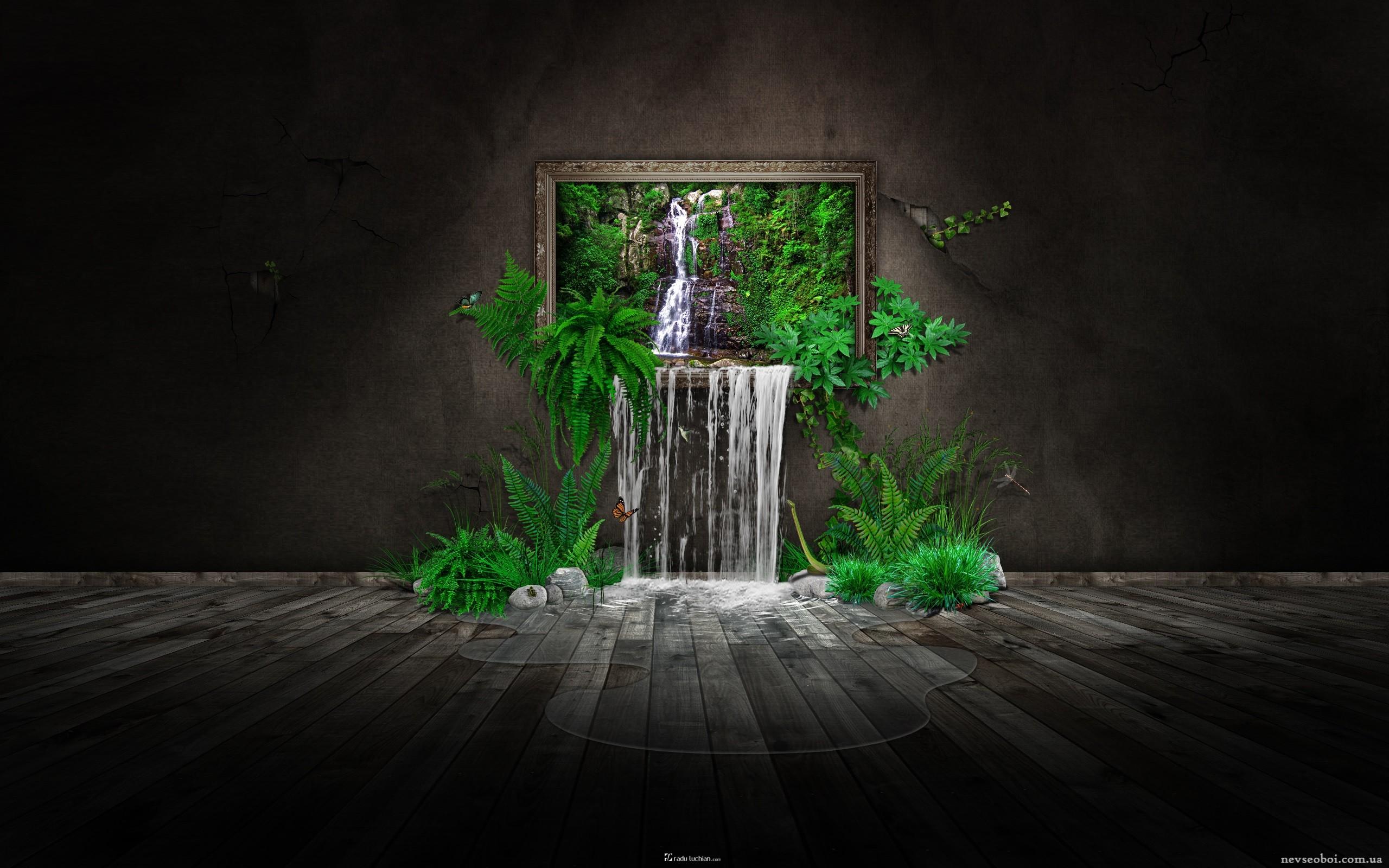 Fondos de pantalla : paisaje, arte digital, noche, CGI, verde ...