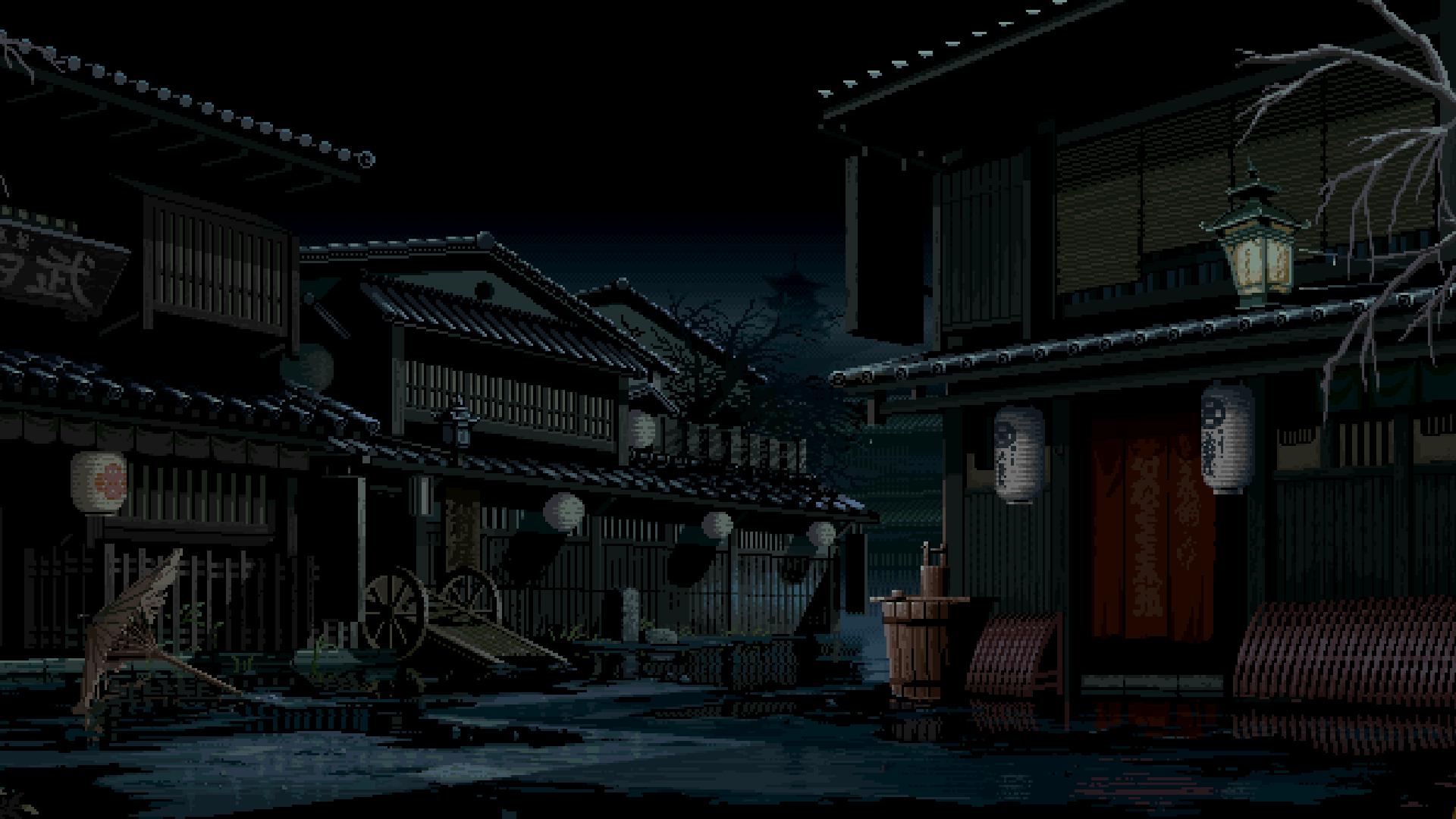 Wallpaper Landscape Digital Art Video Games Street Night