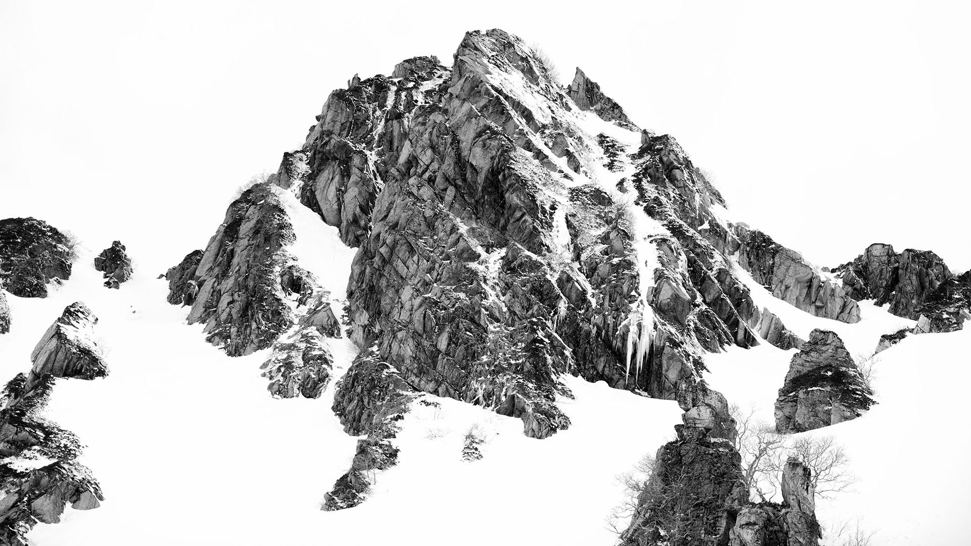 fond d 39 cran paysage dessin montagnes monochrome la nature neige branche arbre. Black Bedroom Furniture Sets. Home Design Ideas