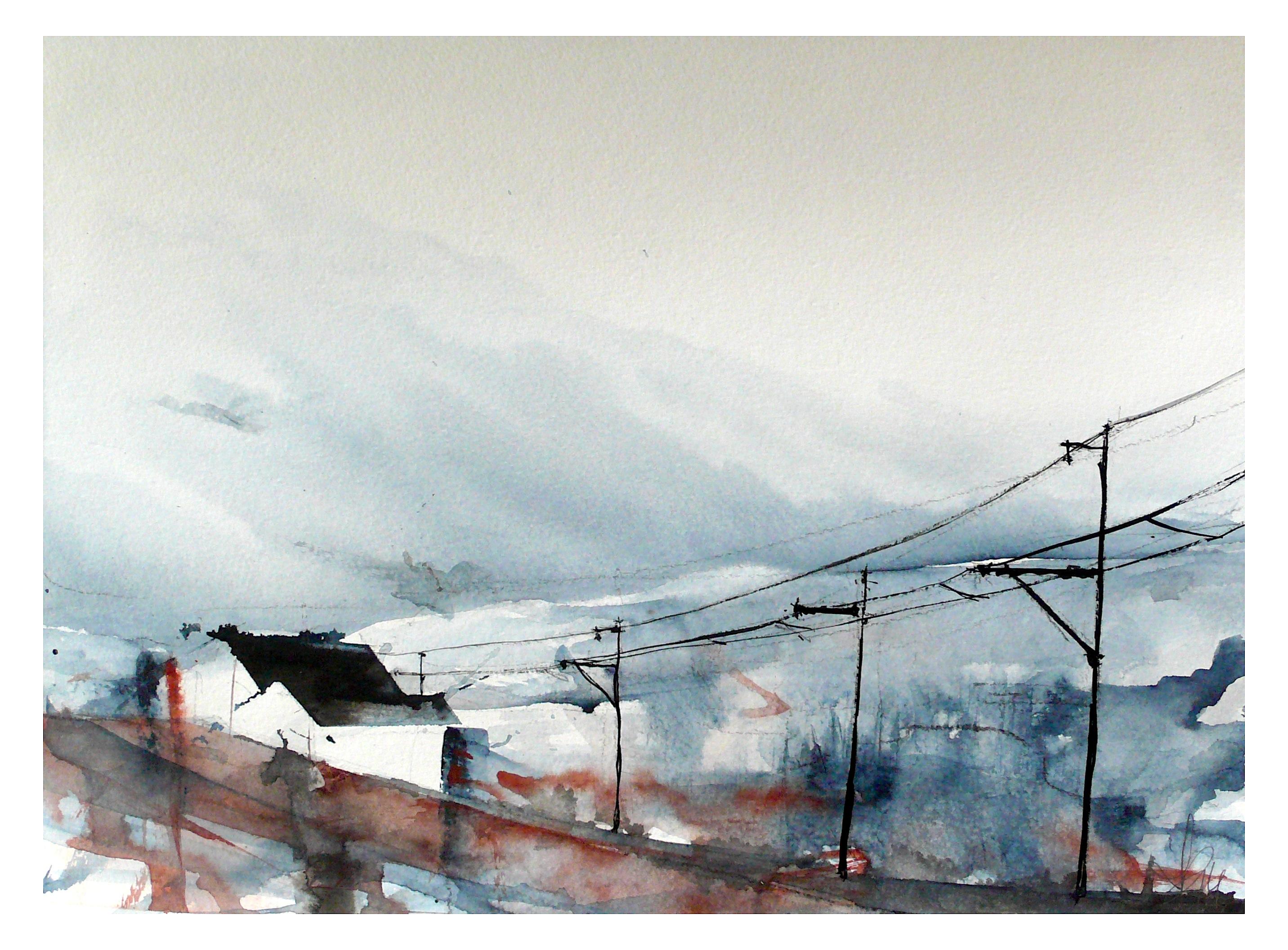 Fondos de pantalla : paisaje, dibujo, agua, invierno, la carretera ...