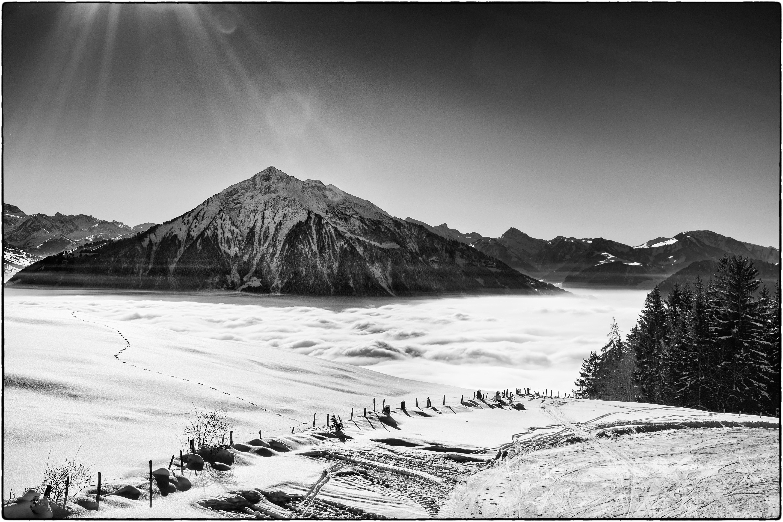 Fond Décran Paysage Dessin Montagnes Monochrome Neige