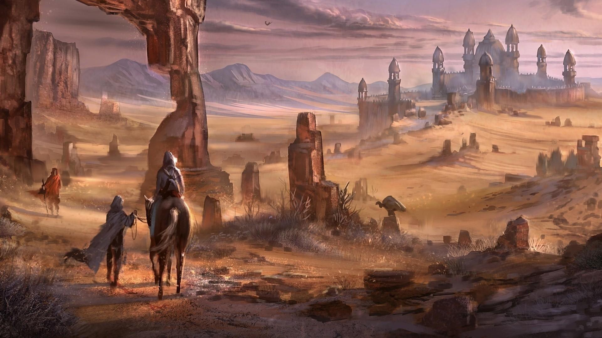 Fond D Ecran Paysage Art Fantastique Desert Plaine