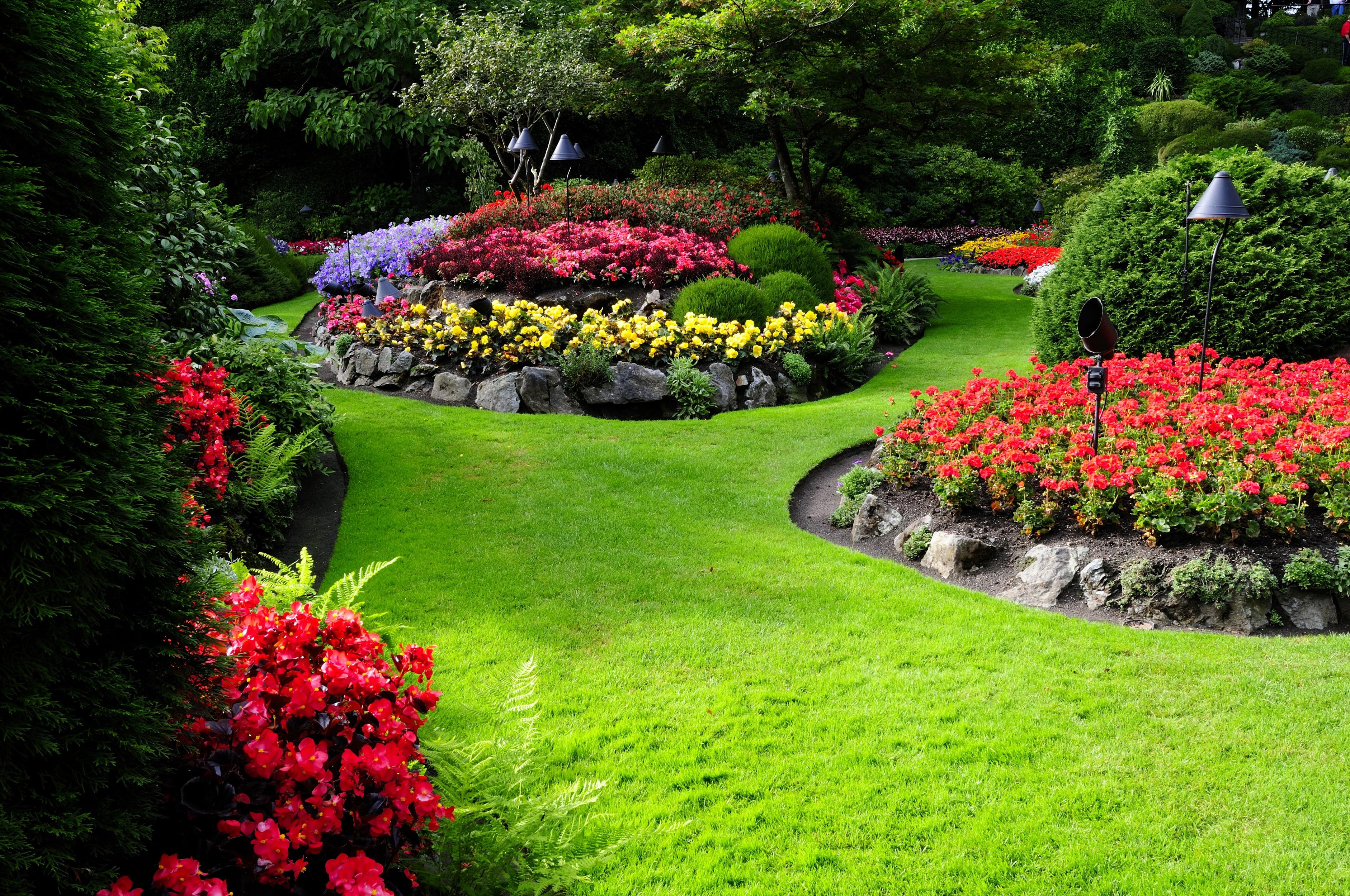 Fondos de pantalla paisaje flores naturaleza patio - Fotografias de jardines ...