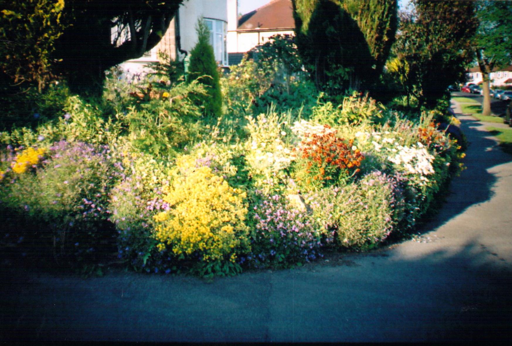 Aménagement D Un Parterre De Fleurs fond d'écran : paysage, eau, la nature, herbe, lit, vert