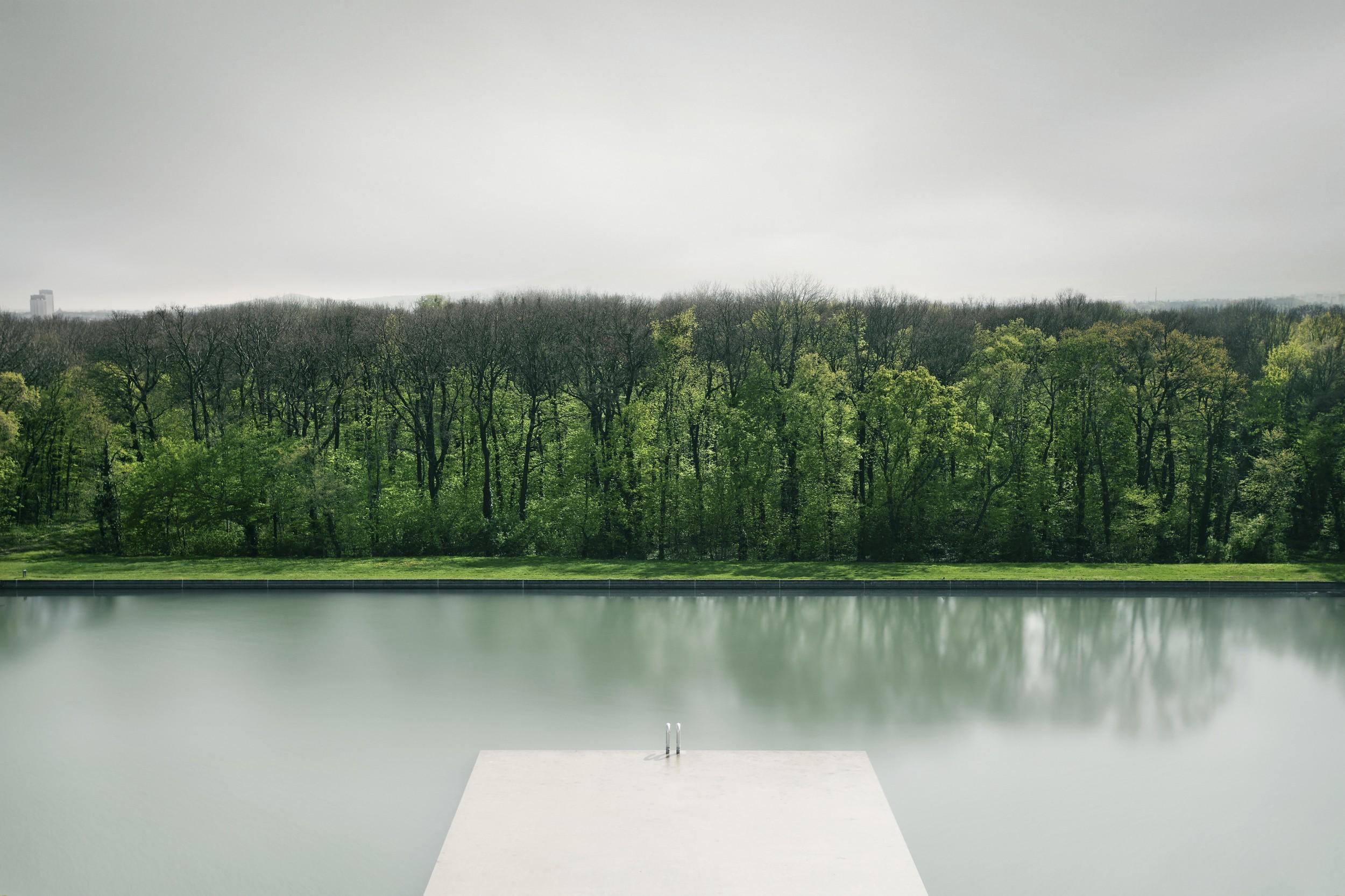 Lake Mountain Reflection Minimalism Wallpapers Hd: Wallpaper : Landscape, Forest, Lake, Nature, Minimalism