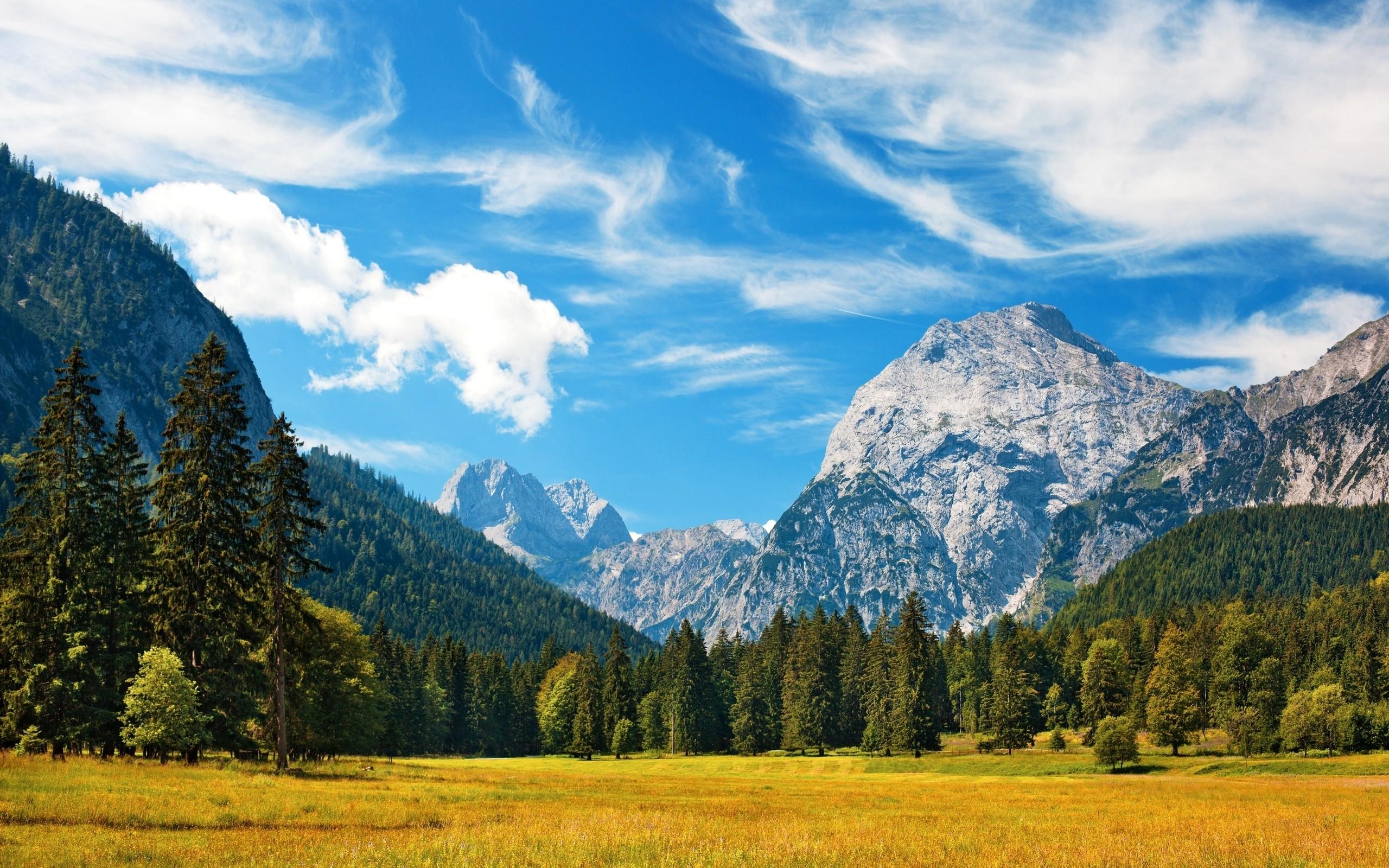 Картинка с пейзажем гор