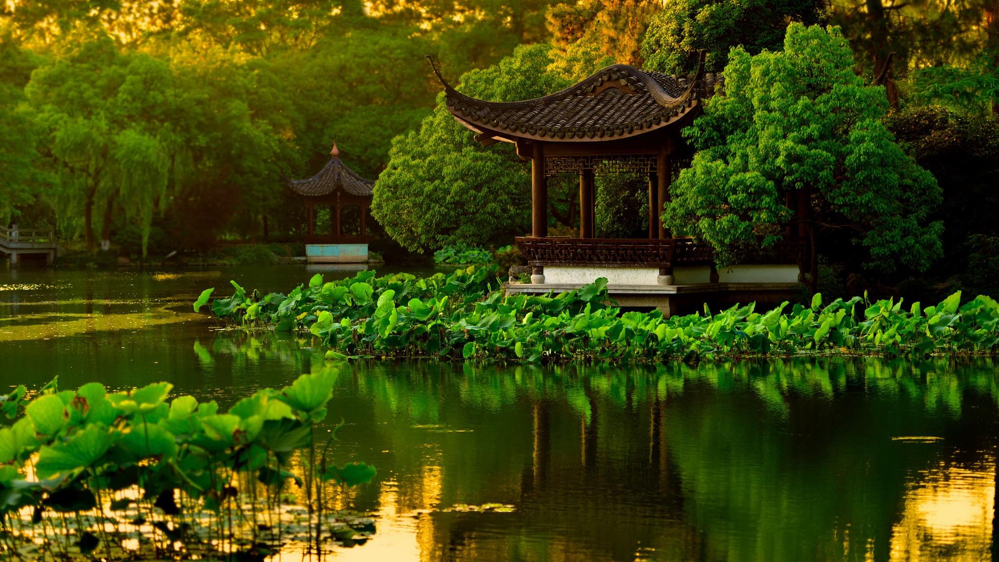 китайский пейзаж обои на рабочий стол № 501908 бесплатно
