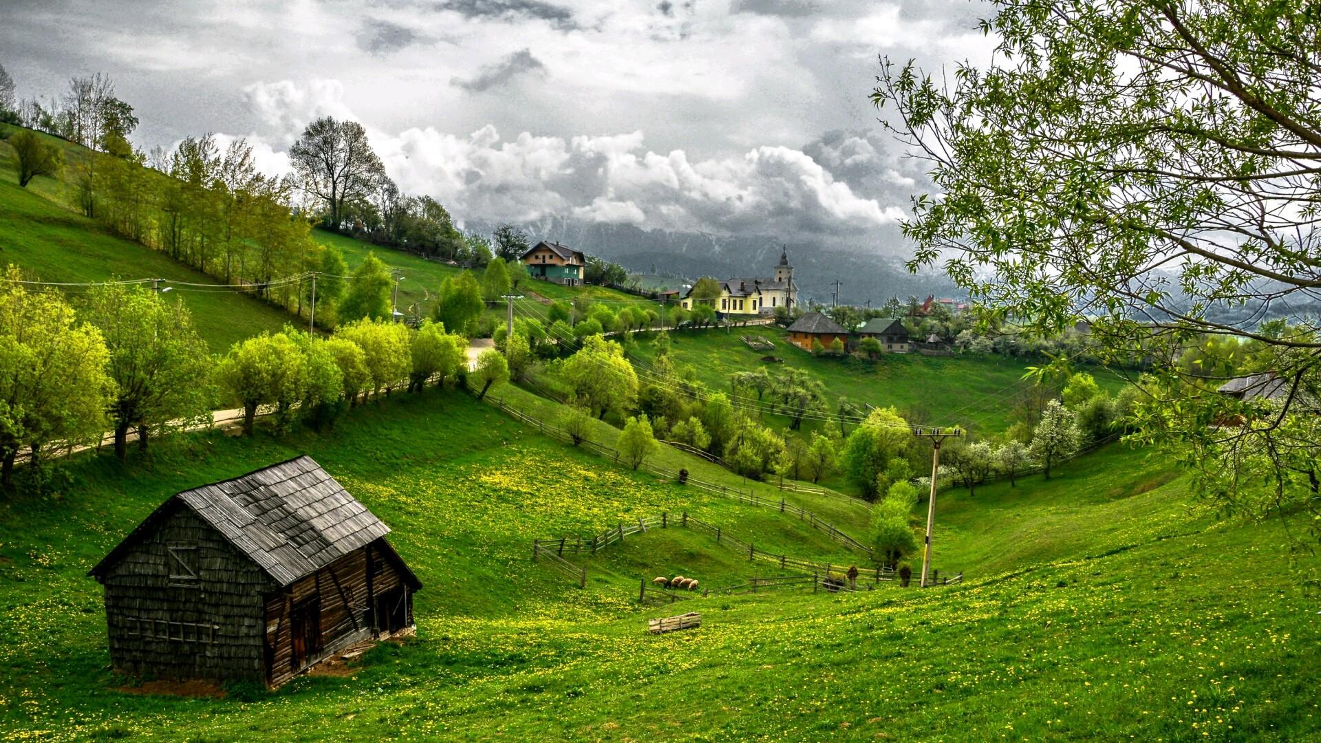 Деревня картинка на рабочий стол
