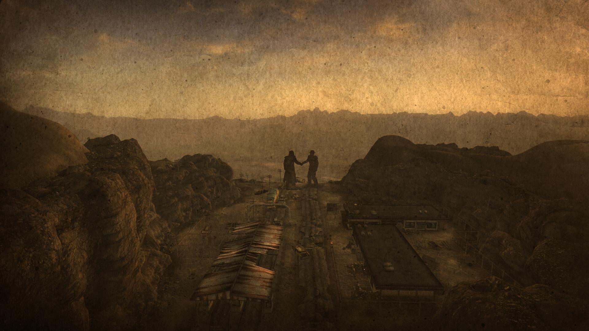 Wallpaper Landscape Hill Rock Ruin Sky Desert Statue
