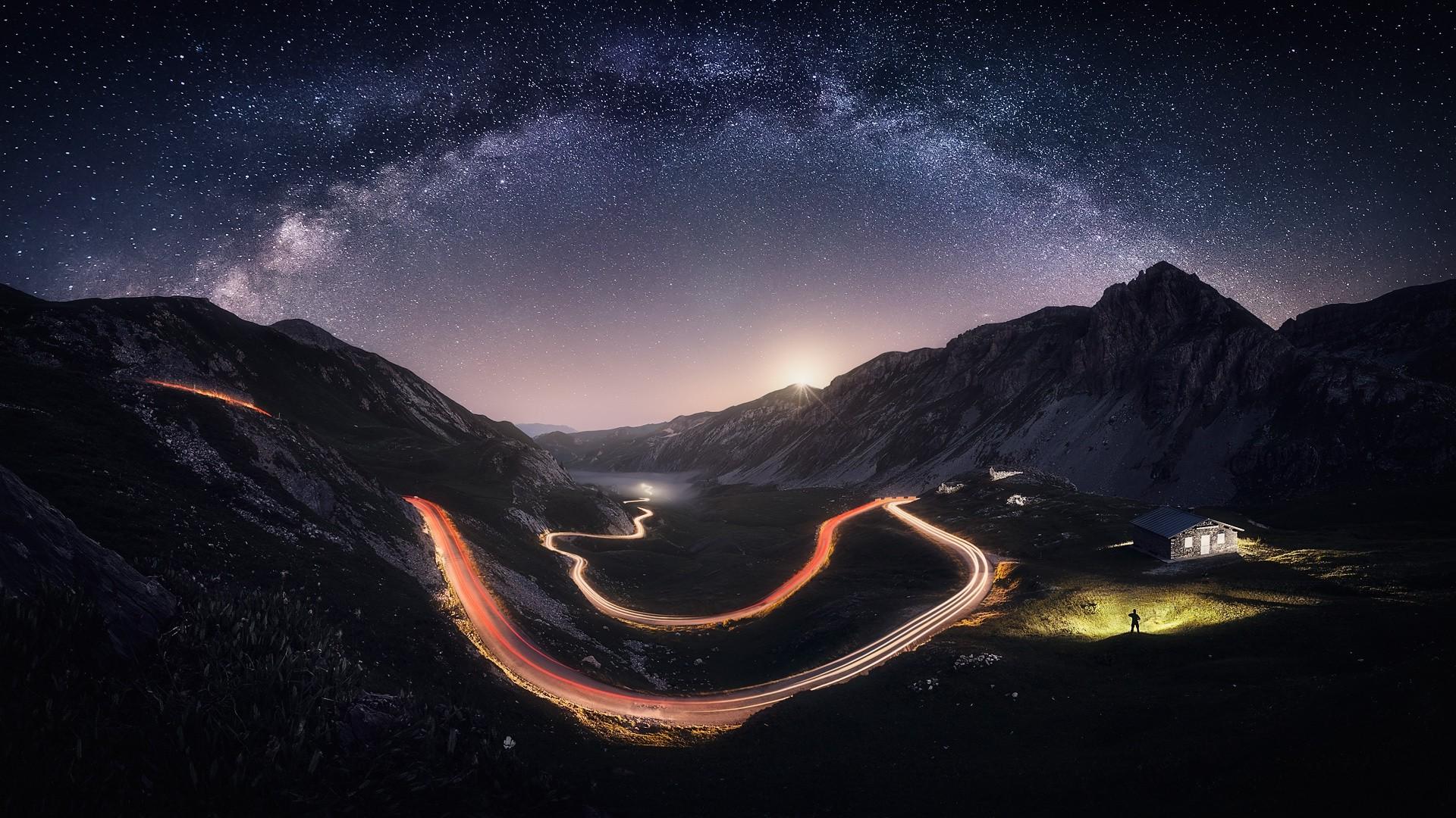 Hintergrundbilder : Landschaft, Beleuchtung, Italien, Nacht-, Planet ...