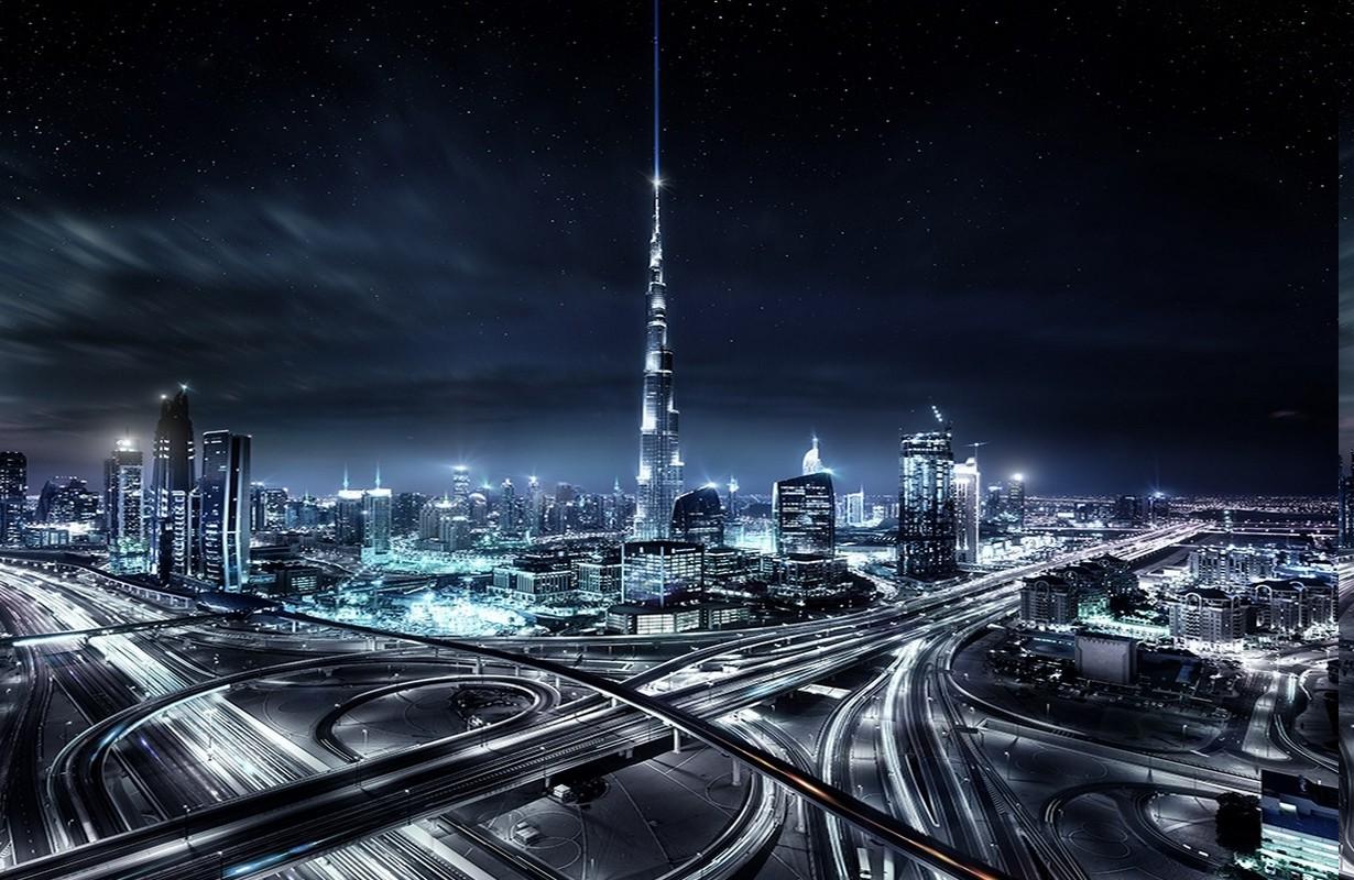 Download Wallpaper Night Dubai - landscape-lights-city-cityscape-night-architecture-space-urban-building-sky-skyline-skyscraper-tower-mist-starry-night-atmosphere-United-Arab-Emirates-Dubai-highway-metropolis-midnight-downtown-darkness-landmark-daytime-urban-area-computer-wallpaper-metropolitan-area-tower-block-outer-space-1230x800-px-788836  2018-3288.jpg