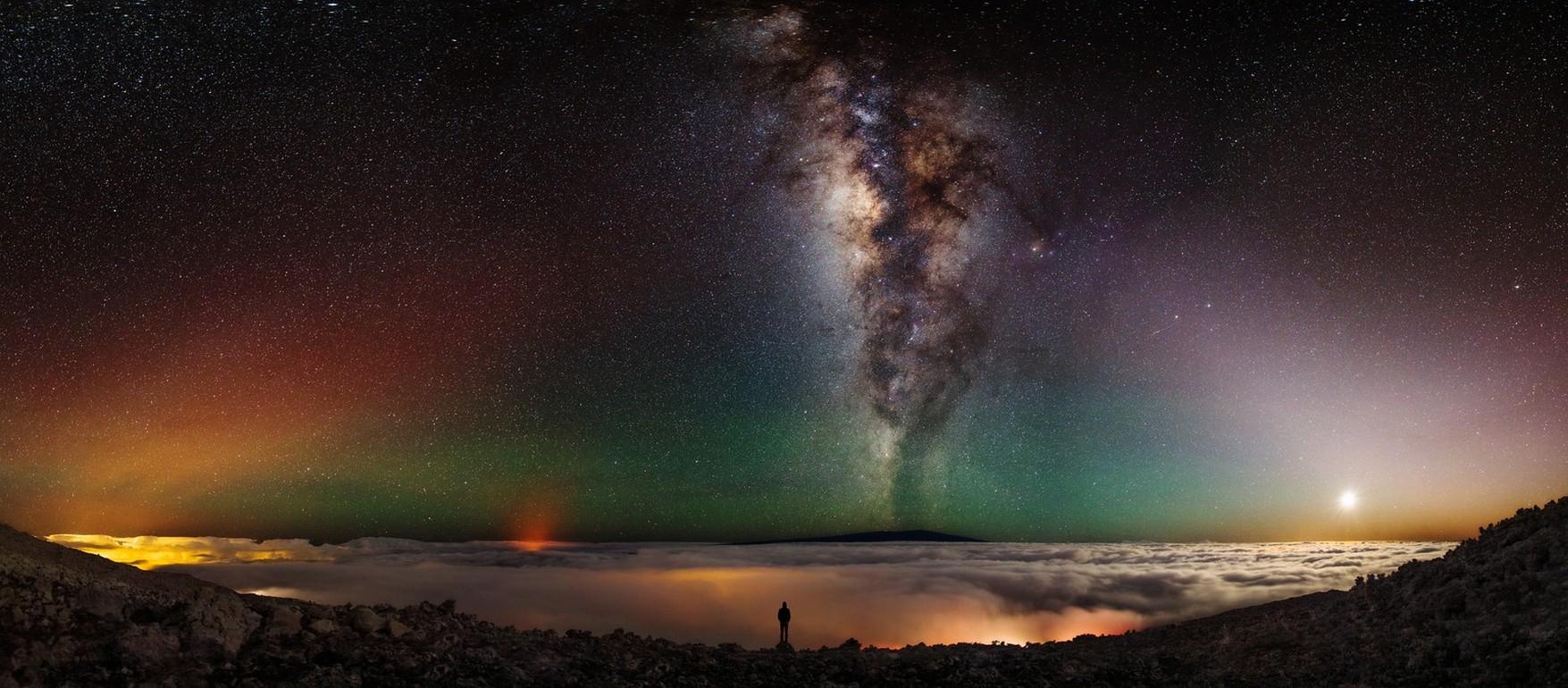 Fond d 39 cran paysage lumi res galaxie la nature for Paysage espace