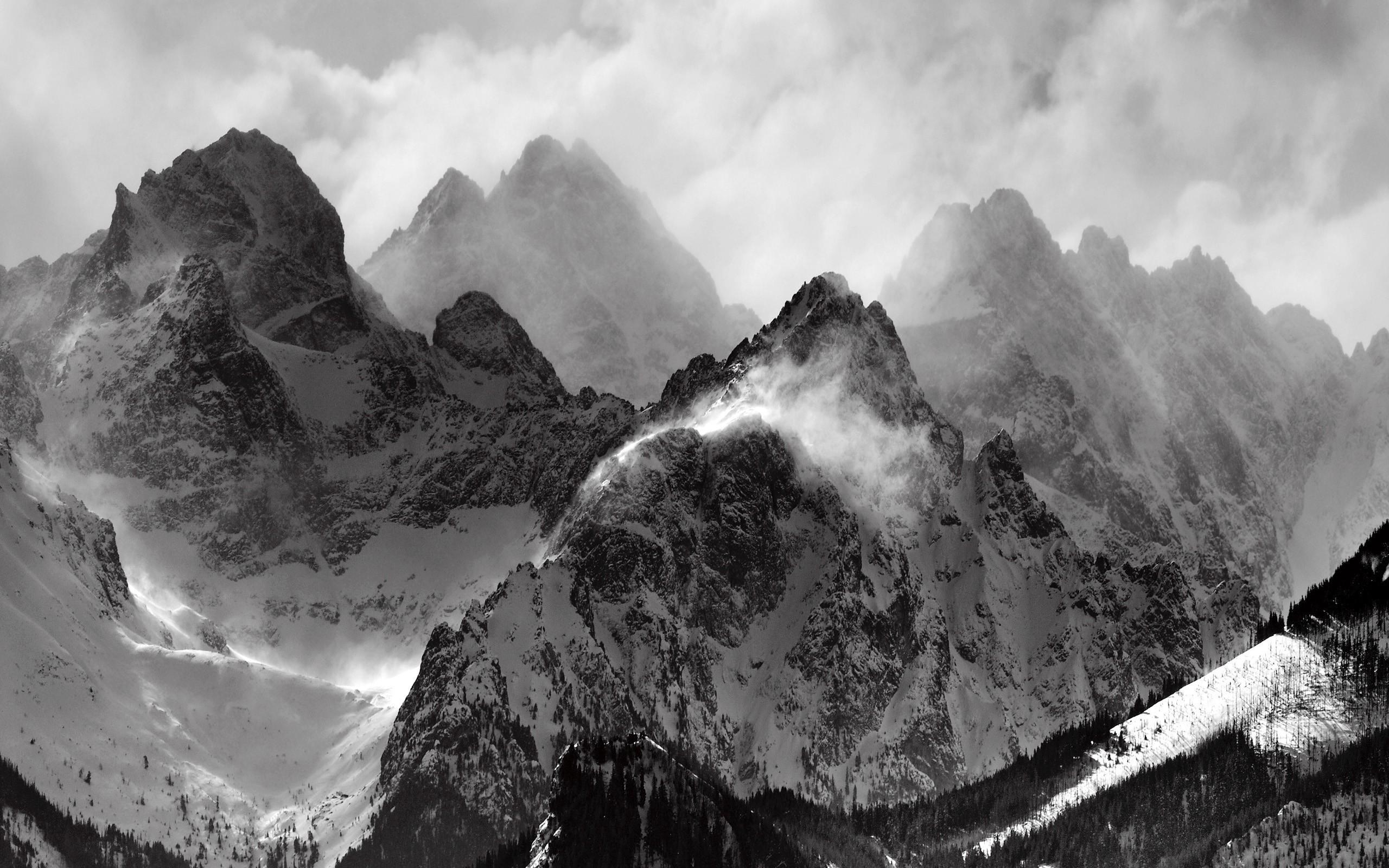 Wallpaper : landscape, rock, nature, snow, ice, mist, Alps, Mount