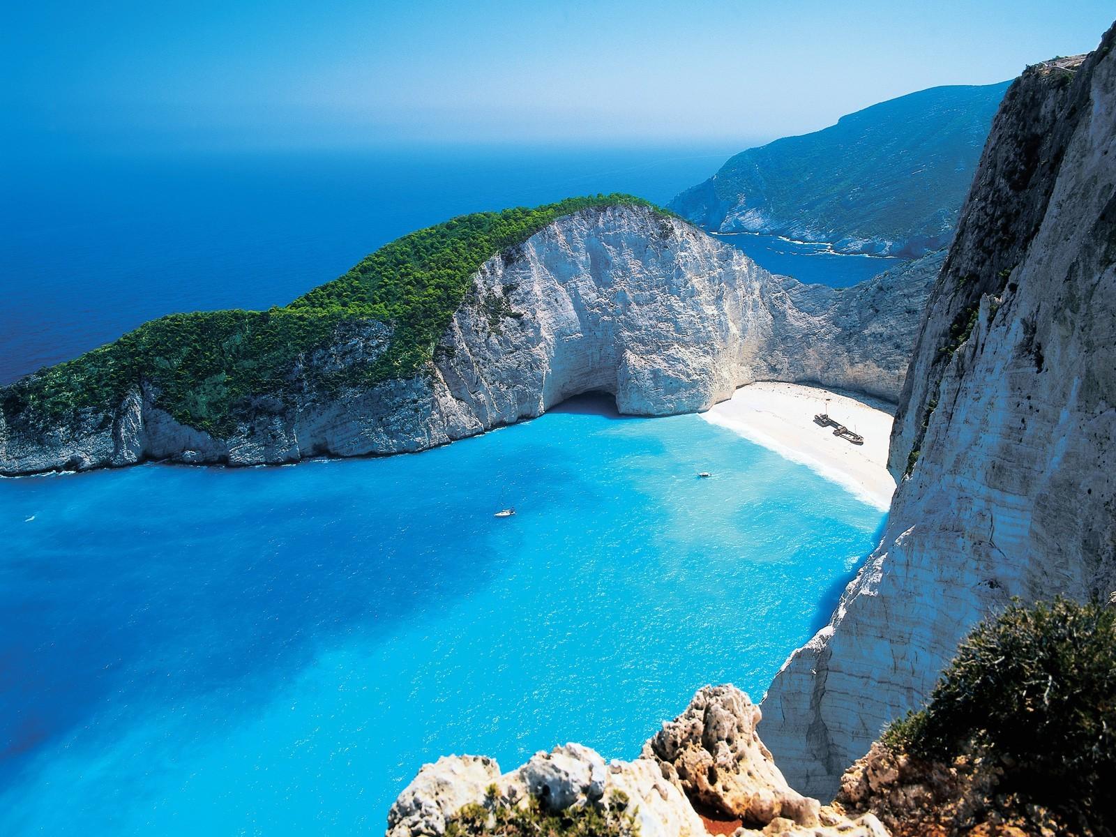 Wallpaper : landscape, mountains, boat, sea, bay, nature ...