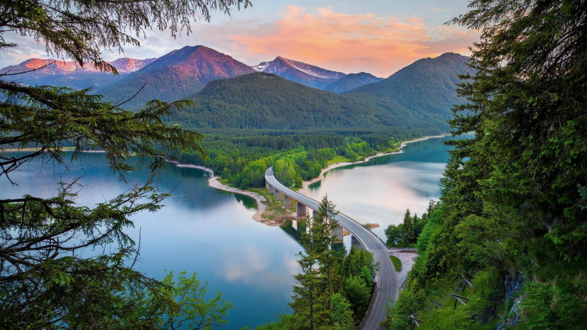 Wallpaper Landscape Mountains Lake Nature Reflection
