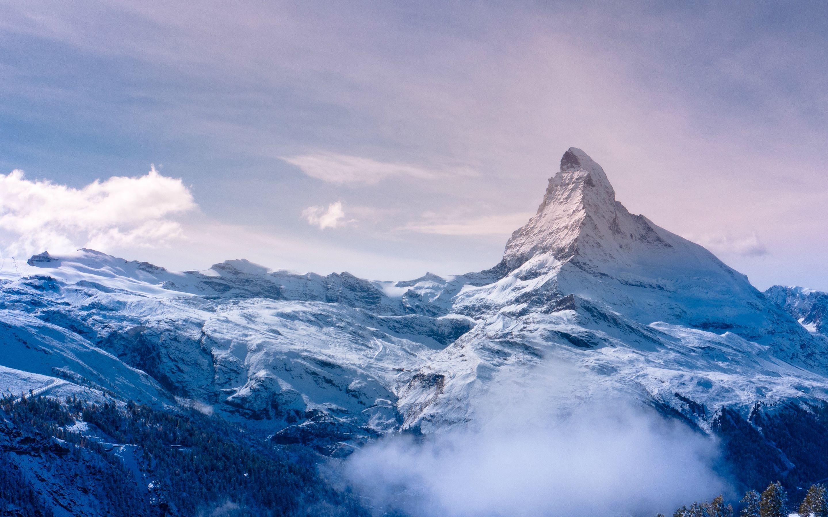 Wallpaper Landscape Mountains Nature Snow Winter