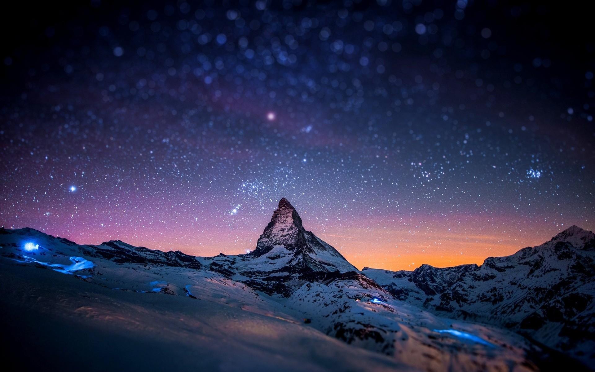Fondo De Pantalla Paisaje Montañas Nevada: Fondos De Pantalla : Paisaje, Montañas, Noche, Naturaleza