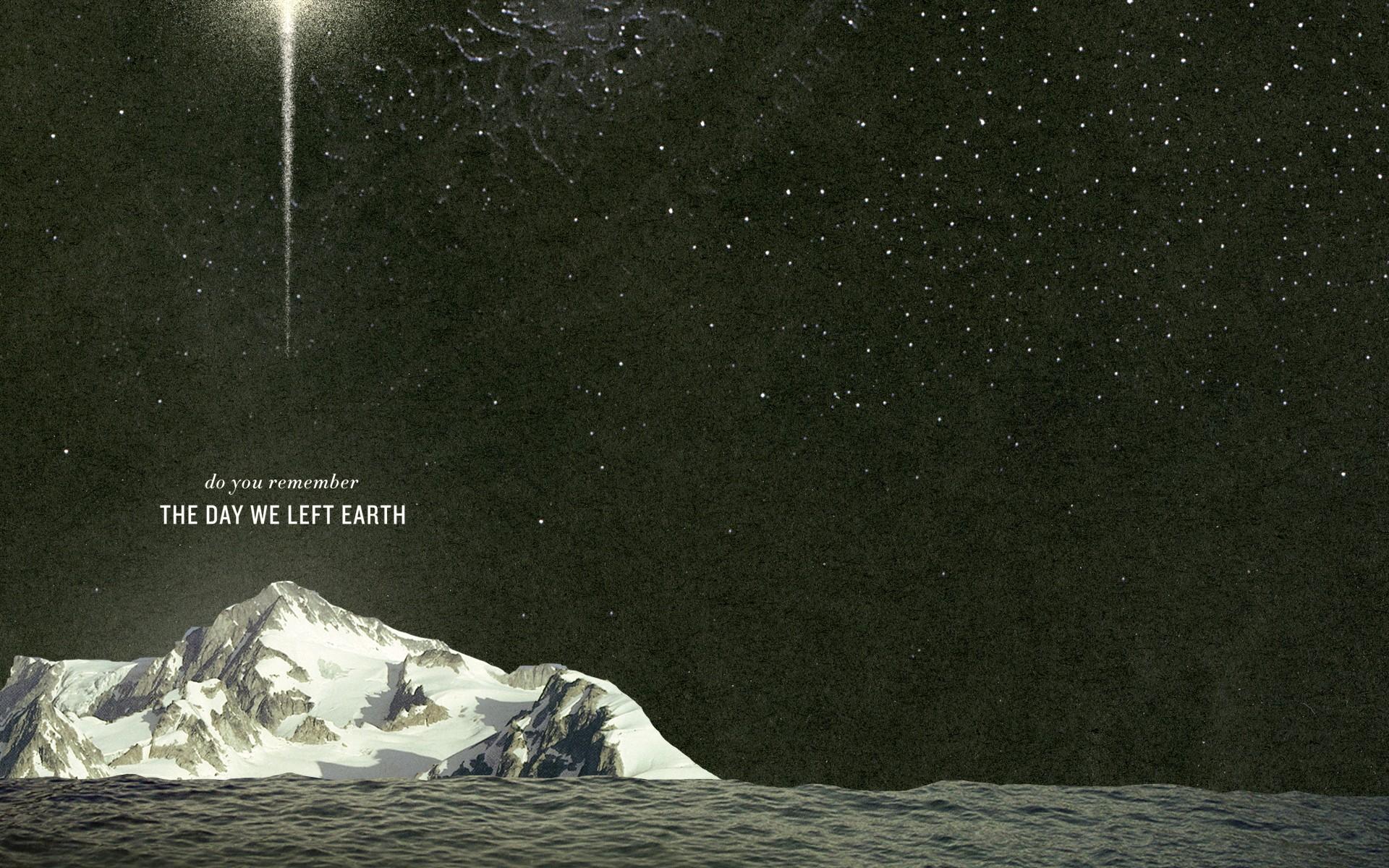 Fond D écran Paysage Montagnes Citation Art Numérique