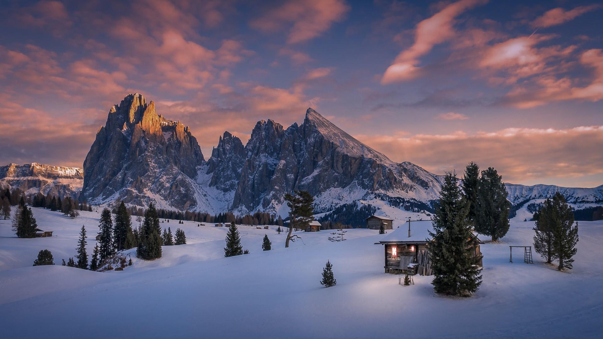 любом фотообои на комп зима в горах ваша визитная