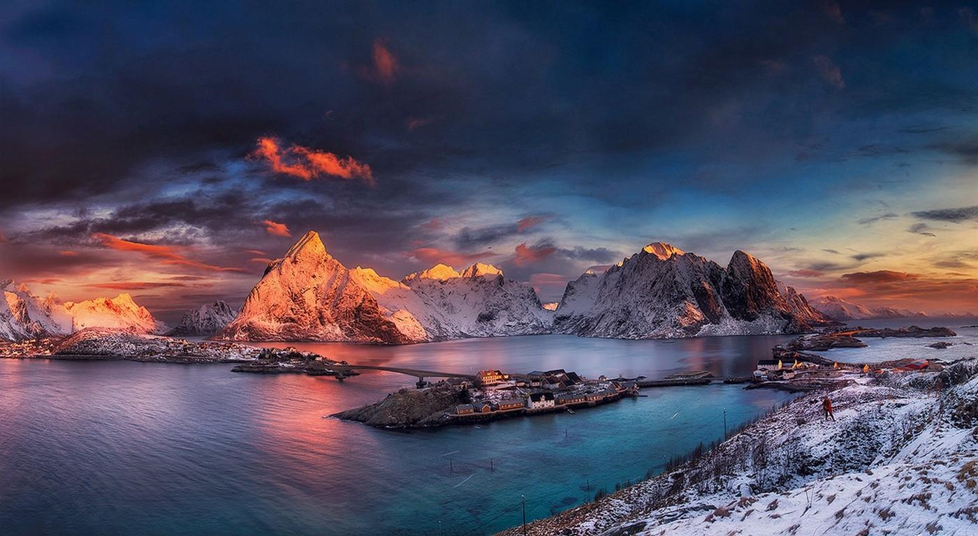 Fond d 39 cran paysage montagnes le coucher du soleil - Photos de neige gratuites ...