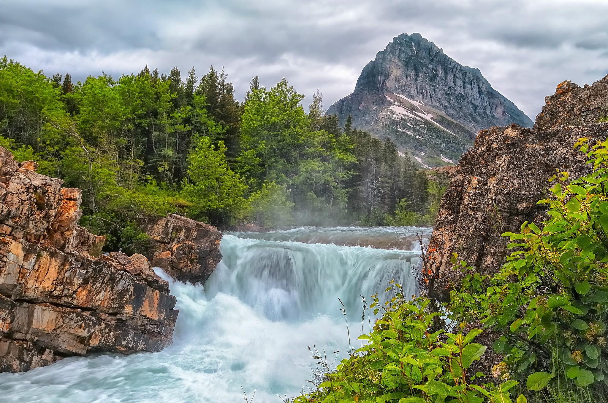 Природа фото водопад речка