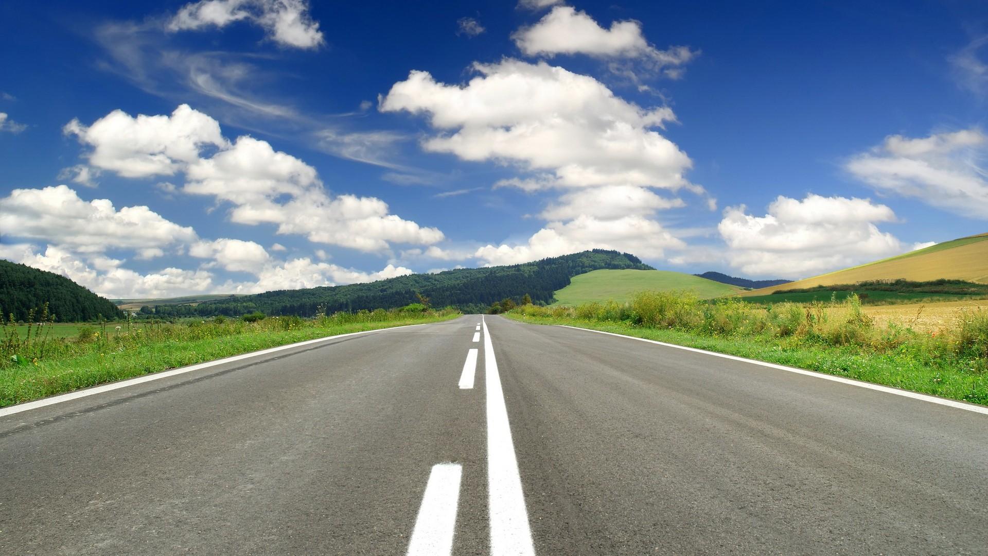 デスクトップ壁紙 風景 自然 フィールド 汚れの道 地平線 山道