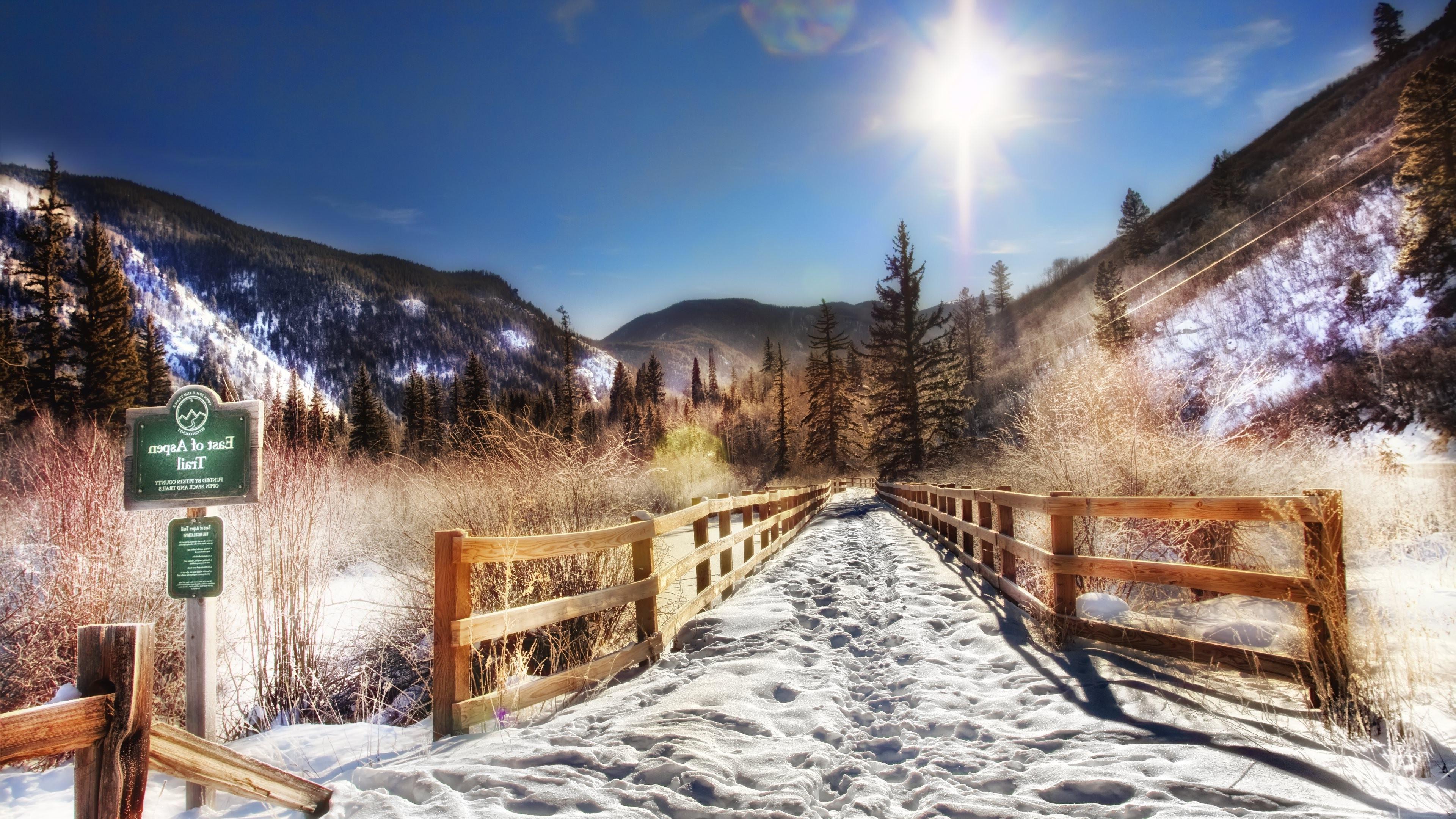 Fondos de pantalla naturaleza cielo nieve invierno - Cabanas de madera en la nieve ...