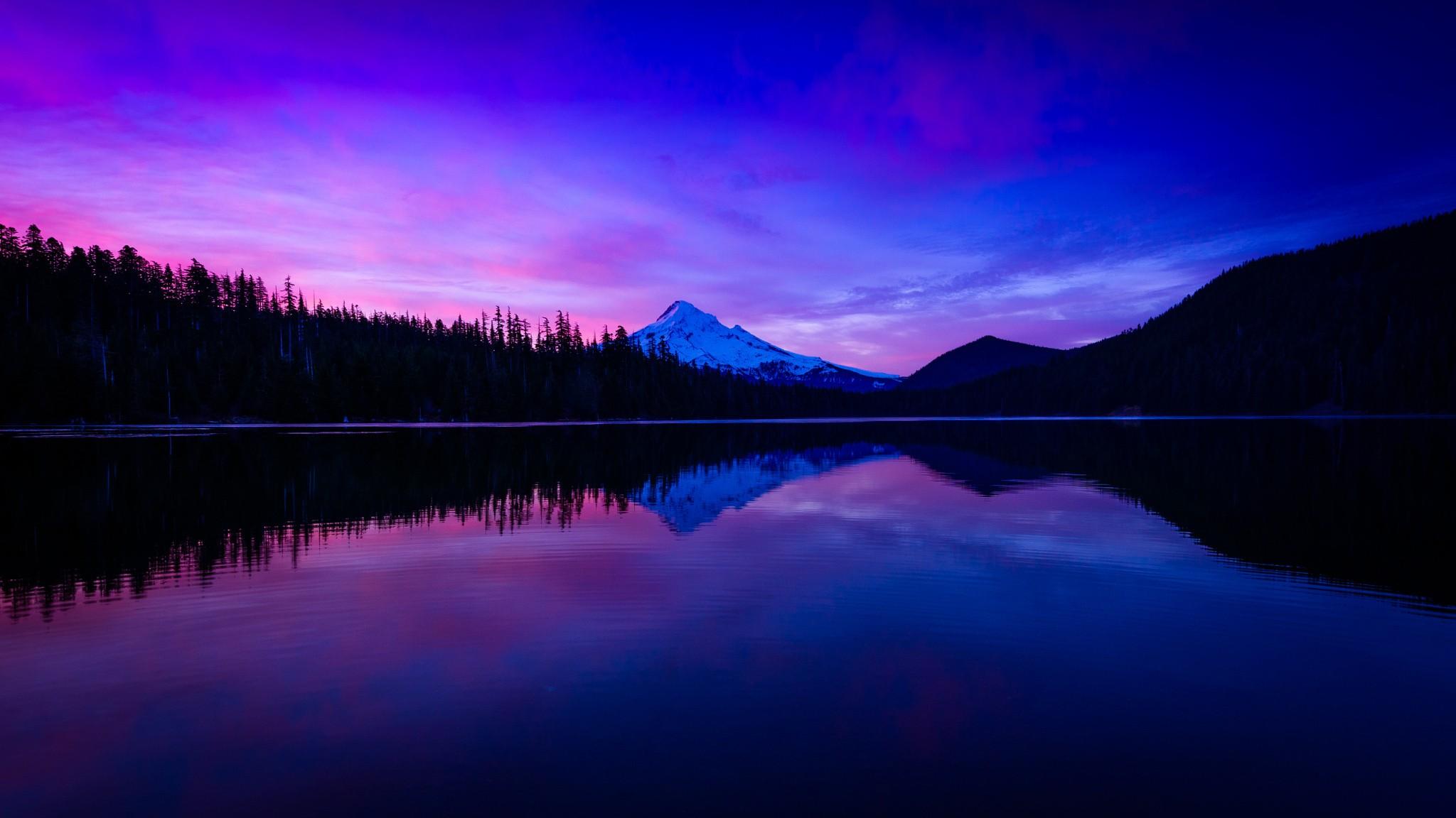 Wallpaper : pemandangan, malam, danau, alam, refleksi, langit
