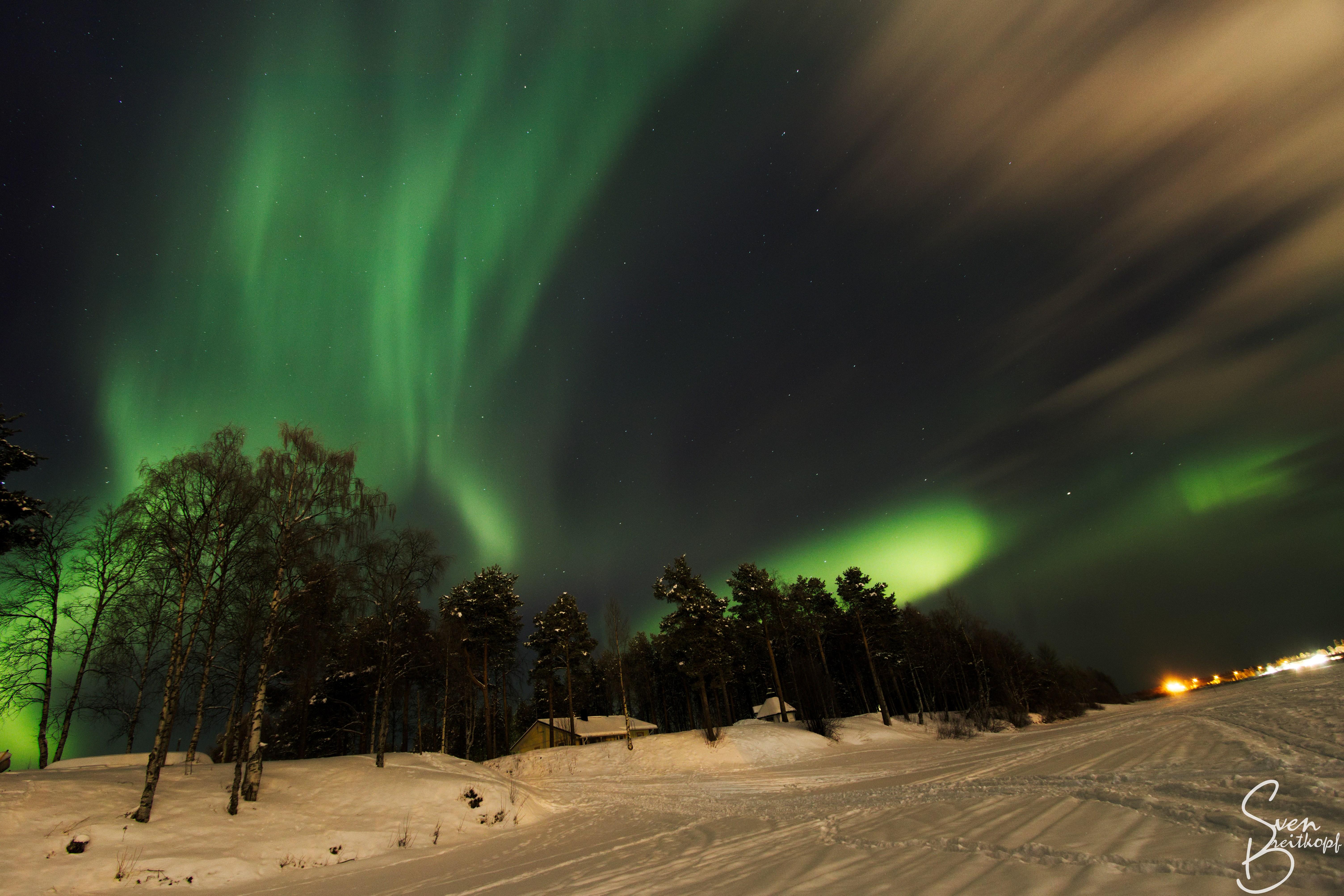 Fond D écran Paysage Nuit La Nature Ciel Hiver Silhouette