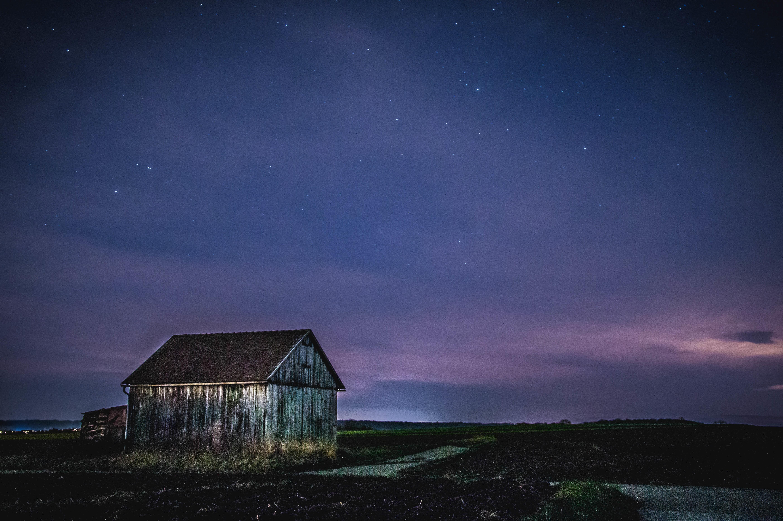 Wallpaper Pemandangan Malam Alam Ruang Langit Bintang