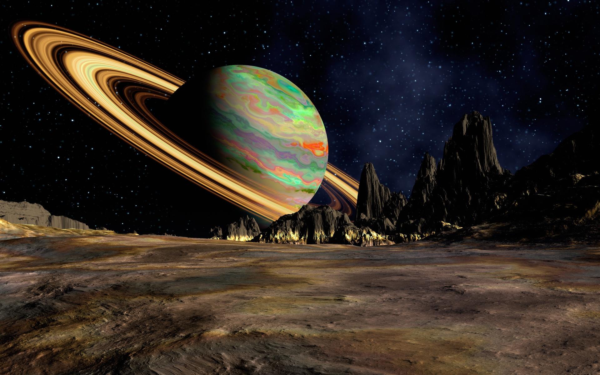 デスクトップ壁紙 風景 夜 惑星 スペース 土星 アート リング コンピュータの壁紙 地球の雰囲気 宇宙空間 天体 現象 19x10 Wallpaperup デスクトップ壁紙 Wallhere