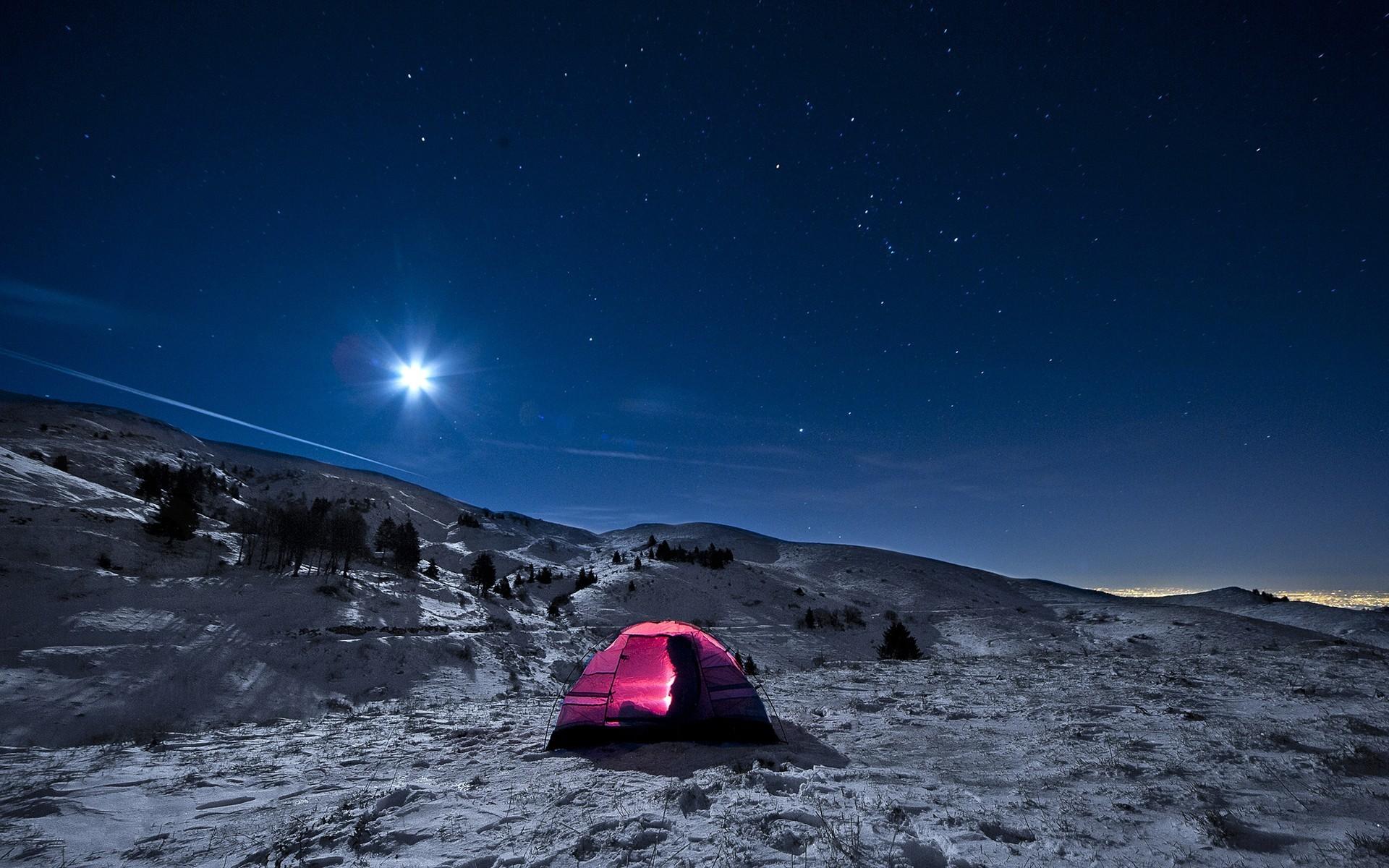 обои на рабочий стол палатка звездное небо подбирают зависимости основного