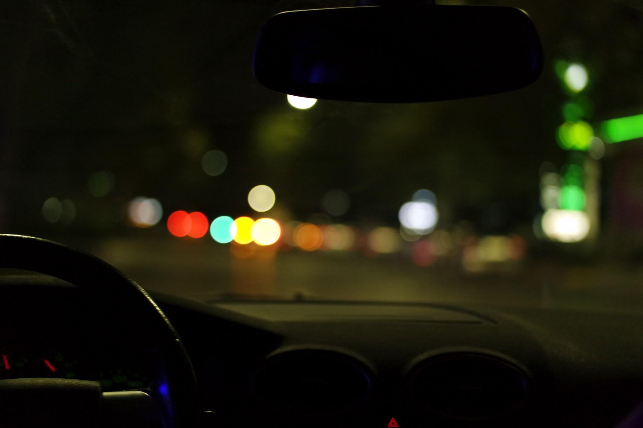 Wallpaper Pemandangan Malam Kendaraan Lampu Lampu Kota
