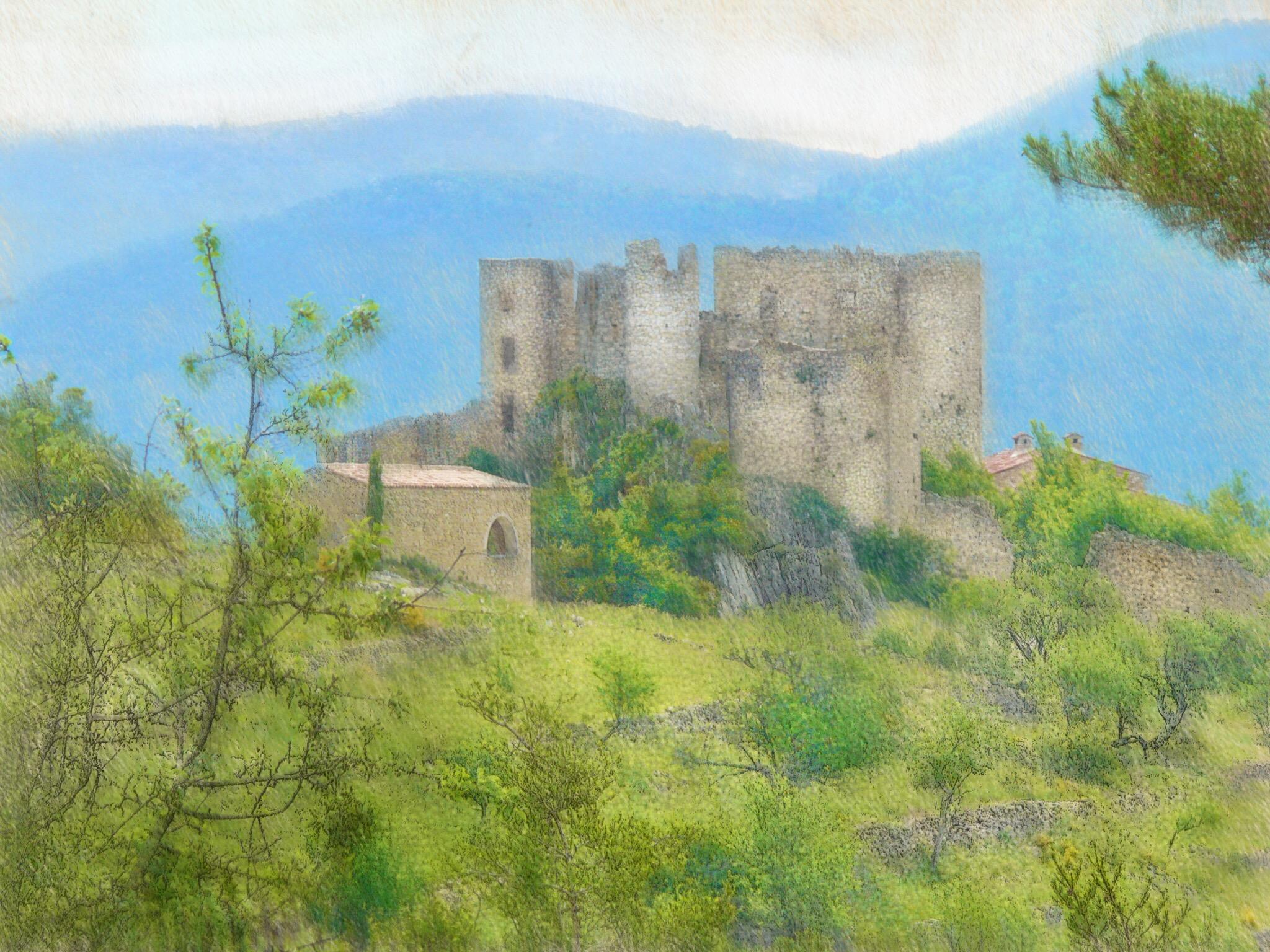 Landschaftsmalerei impressionismus  Hintergrundbilder : Landschaft, Malerei, Alt, Gebäude, Gras, Himmel ...