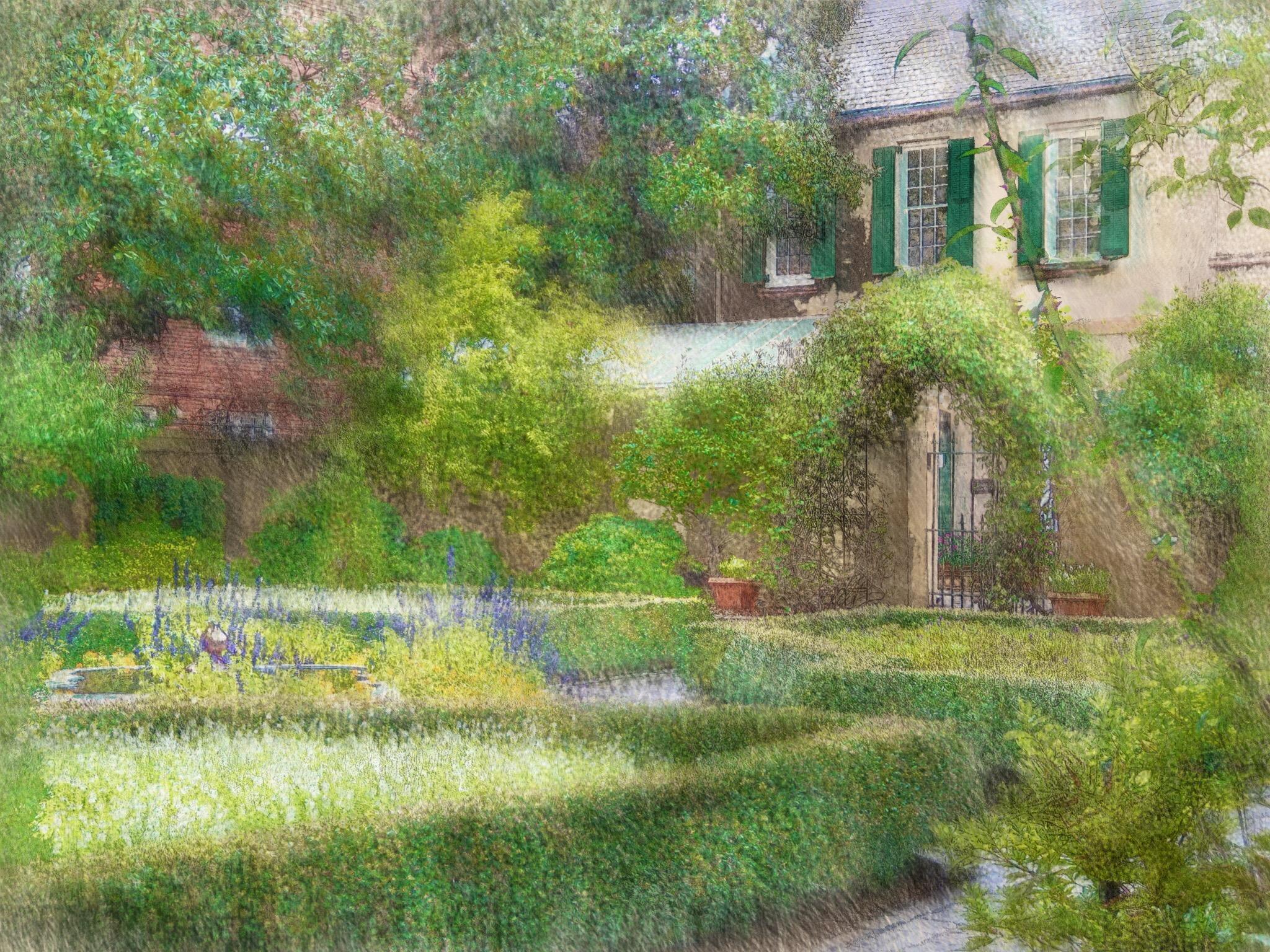 Charmant Hintergrundbilder : Landschaft, Malerei, Garten, Gras, Haus,  Savanne, Immobilien