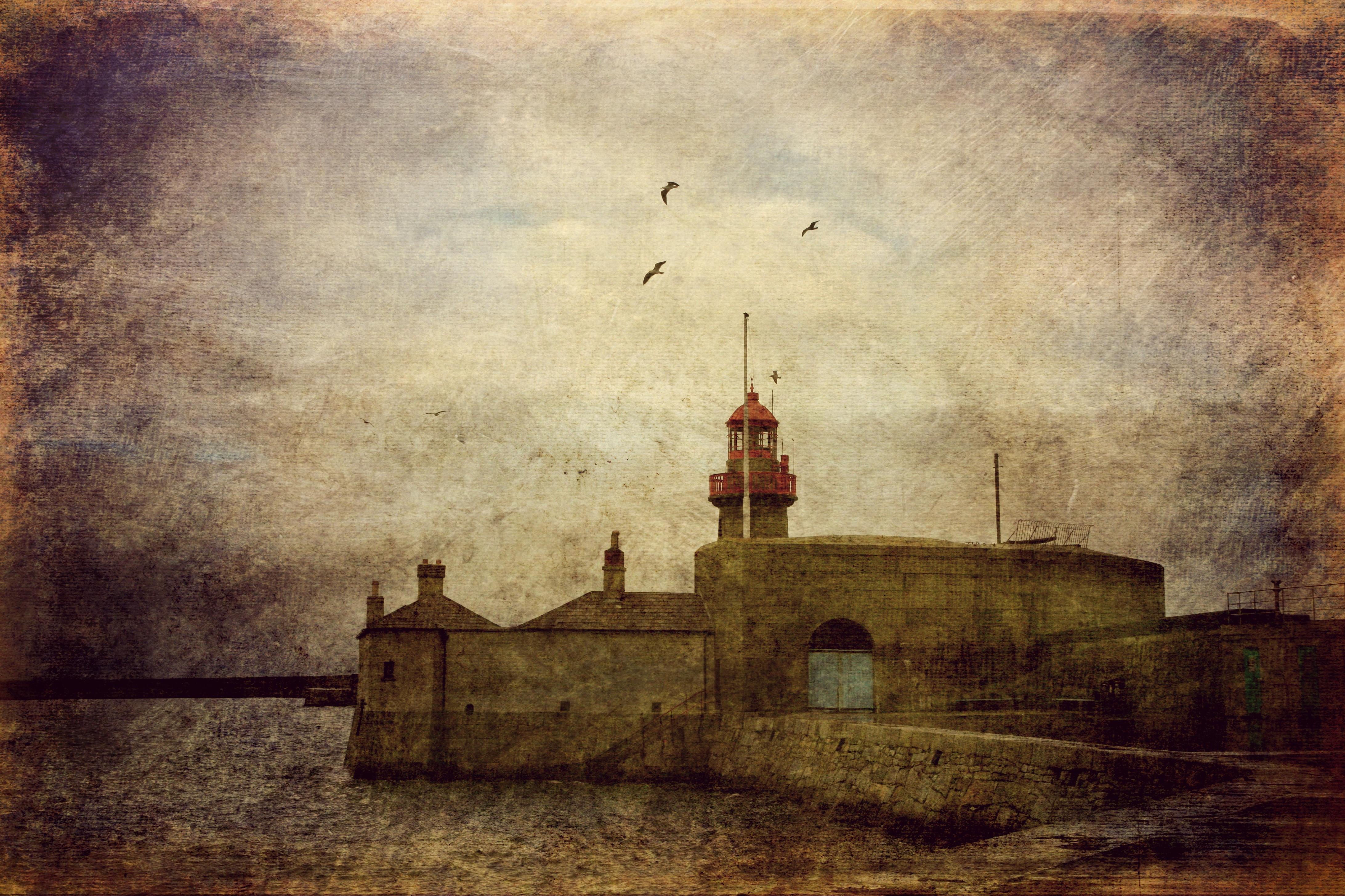 Wallpaper : landscape, painting, sea, sky, wall, artwork, calm ...