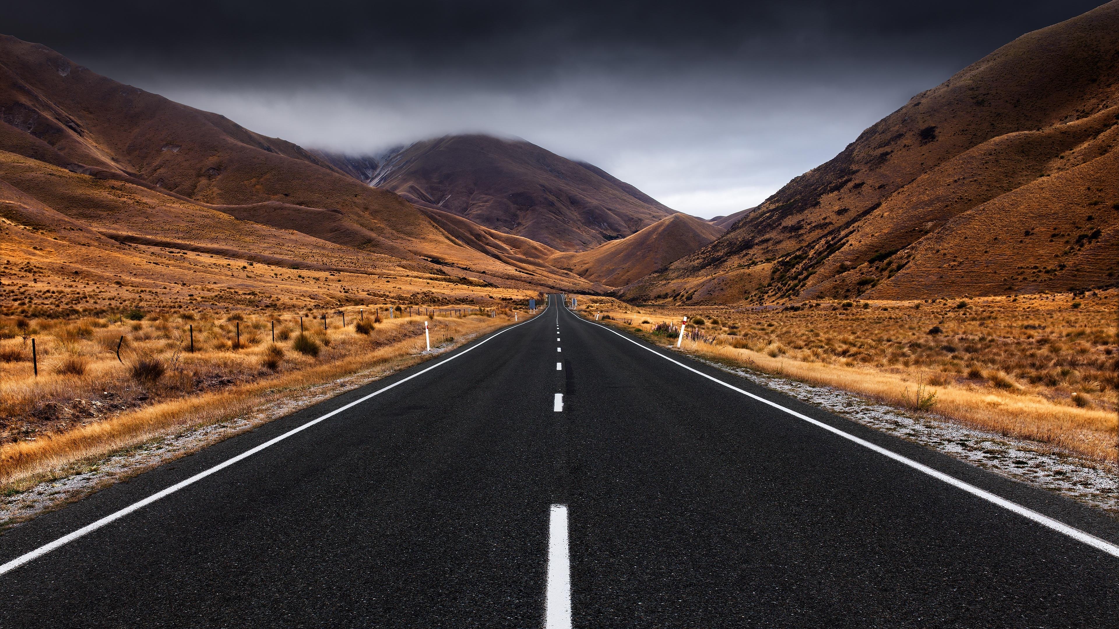 Wallpaper : pemandangan, melewati gunung, jalan raya, aspal