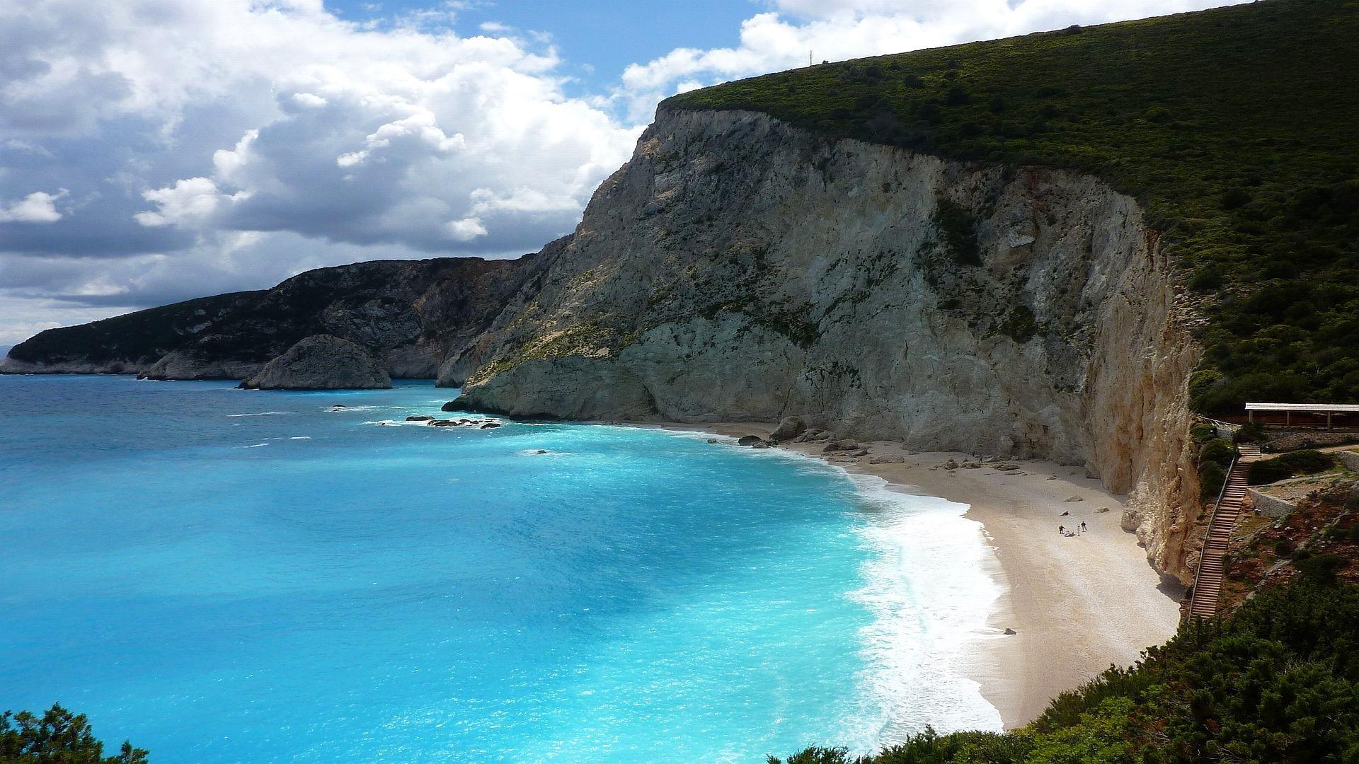 Wallpaper Landscape Sea Bay Rock Nature Beach Coast Cliff Greece