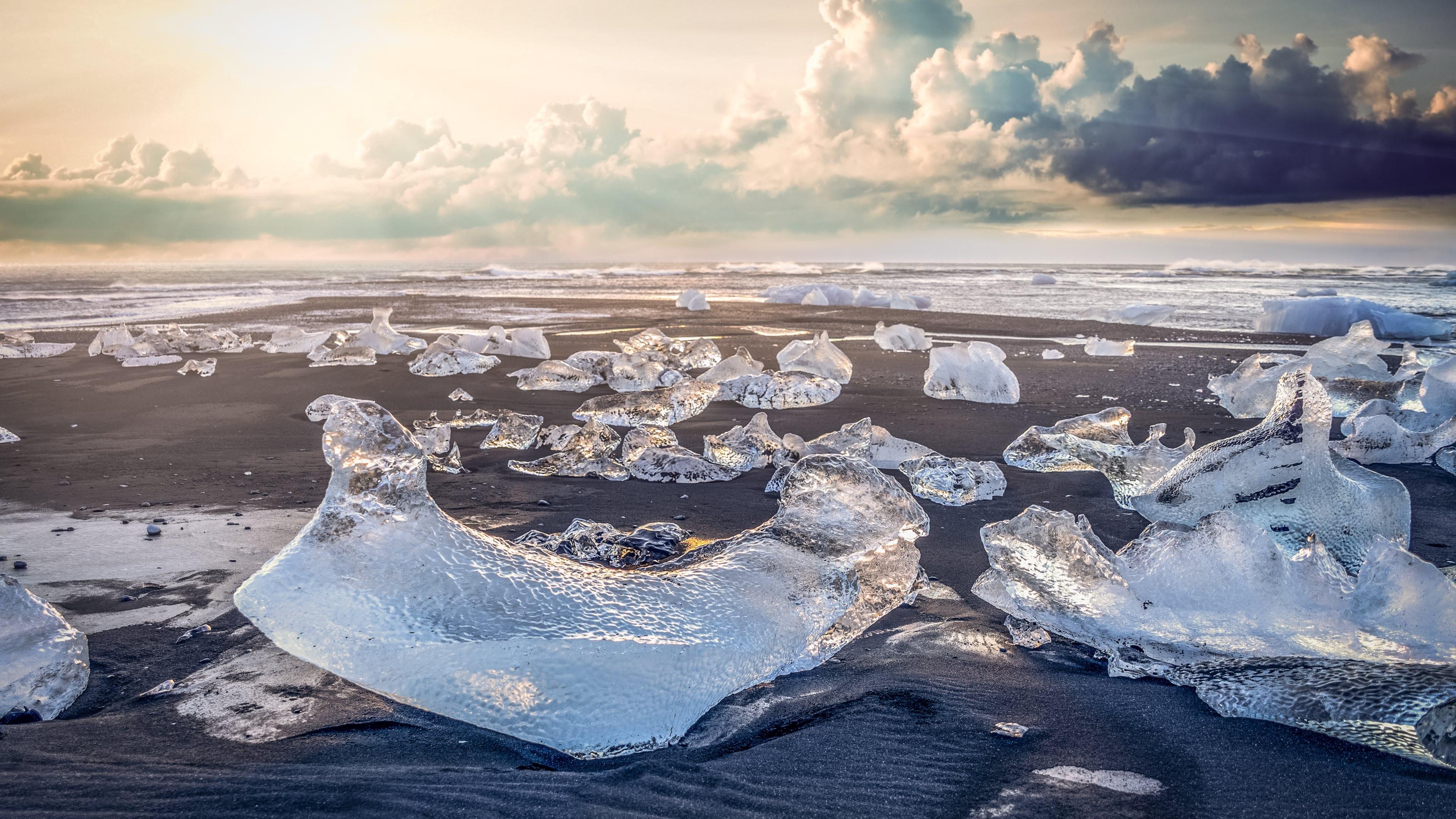 Фото льда на берегу моря