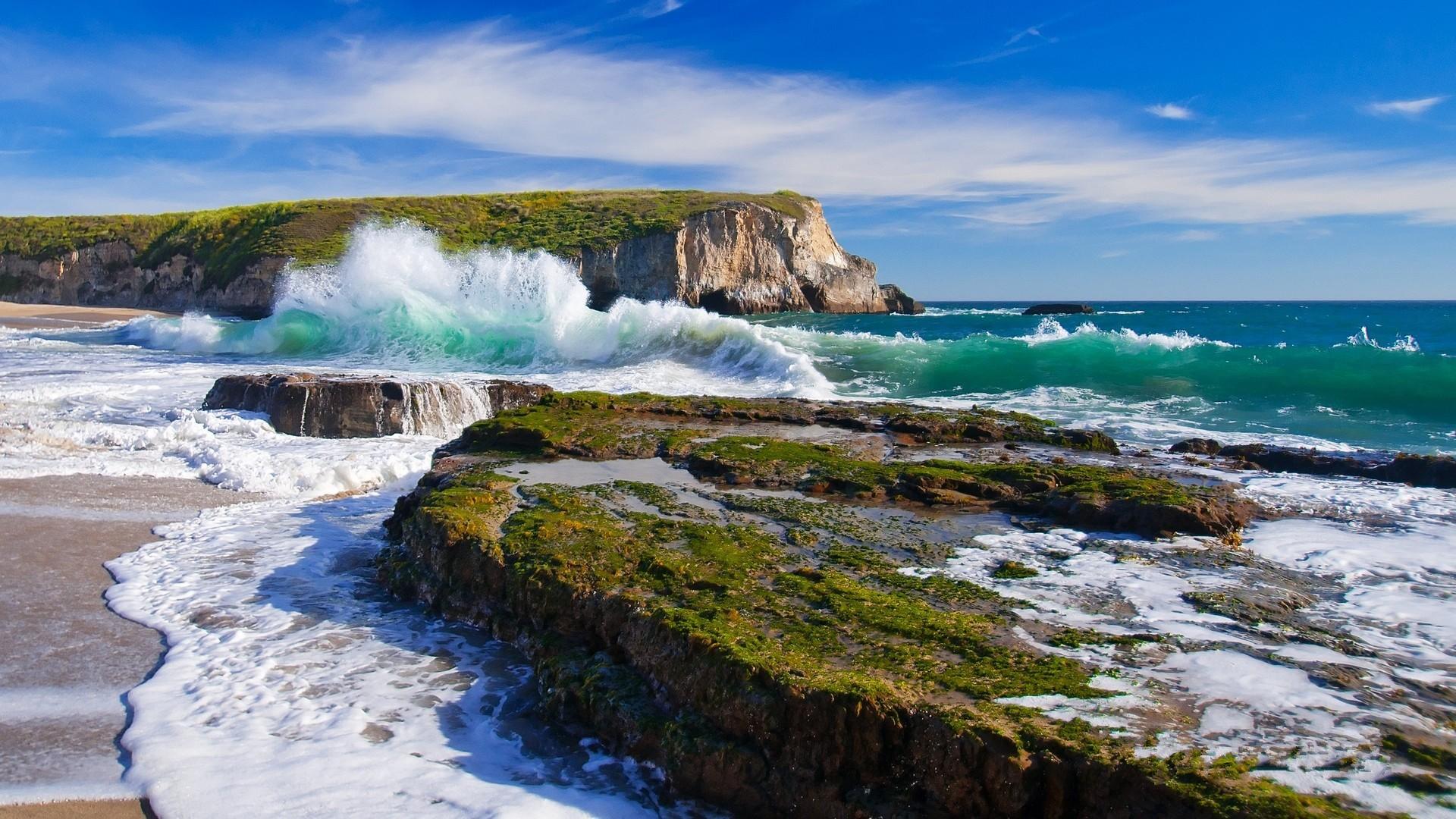 Wallpaper Landscape Sea Bay Rock Shore Beach Waves Coast