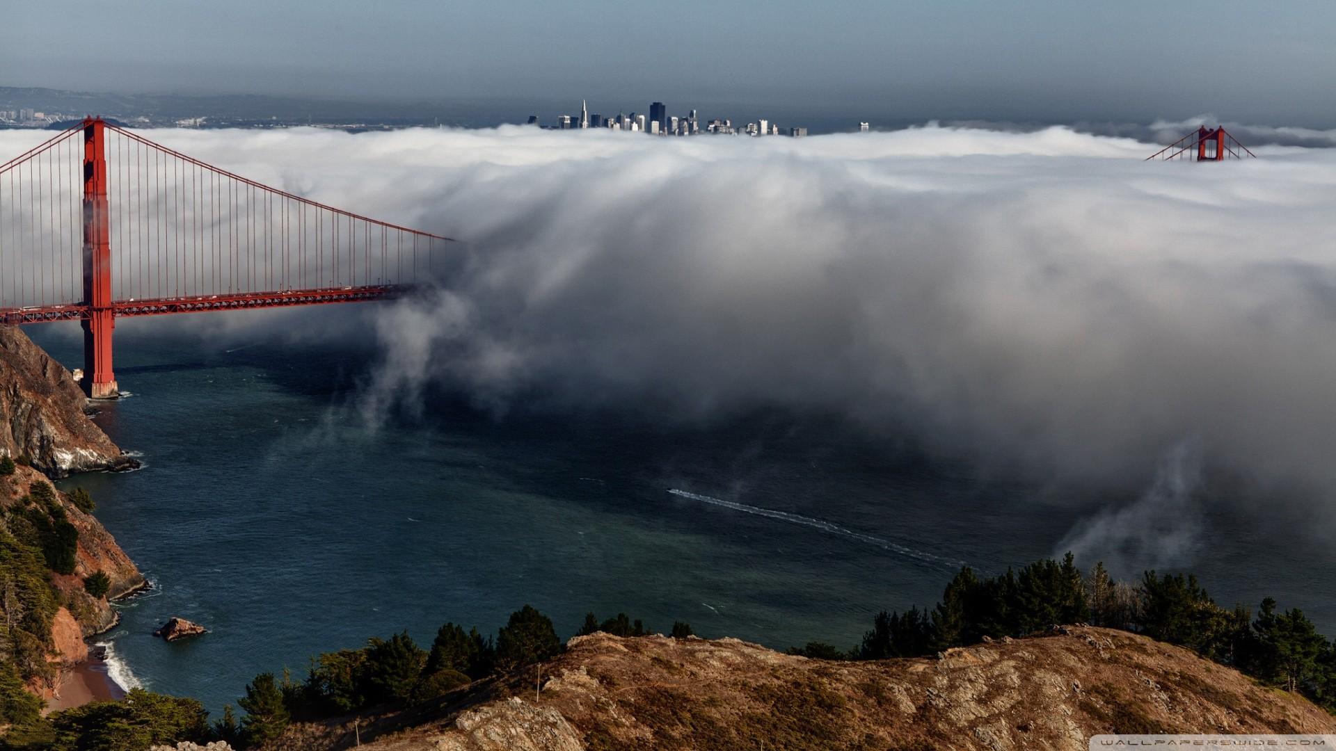 Обои Сан франциско, сша, Залив, облако, туман. Города foto 15