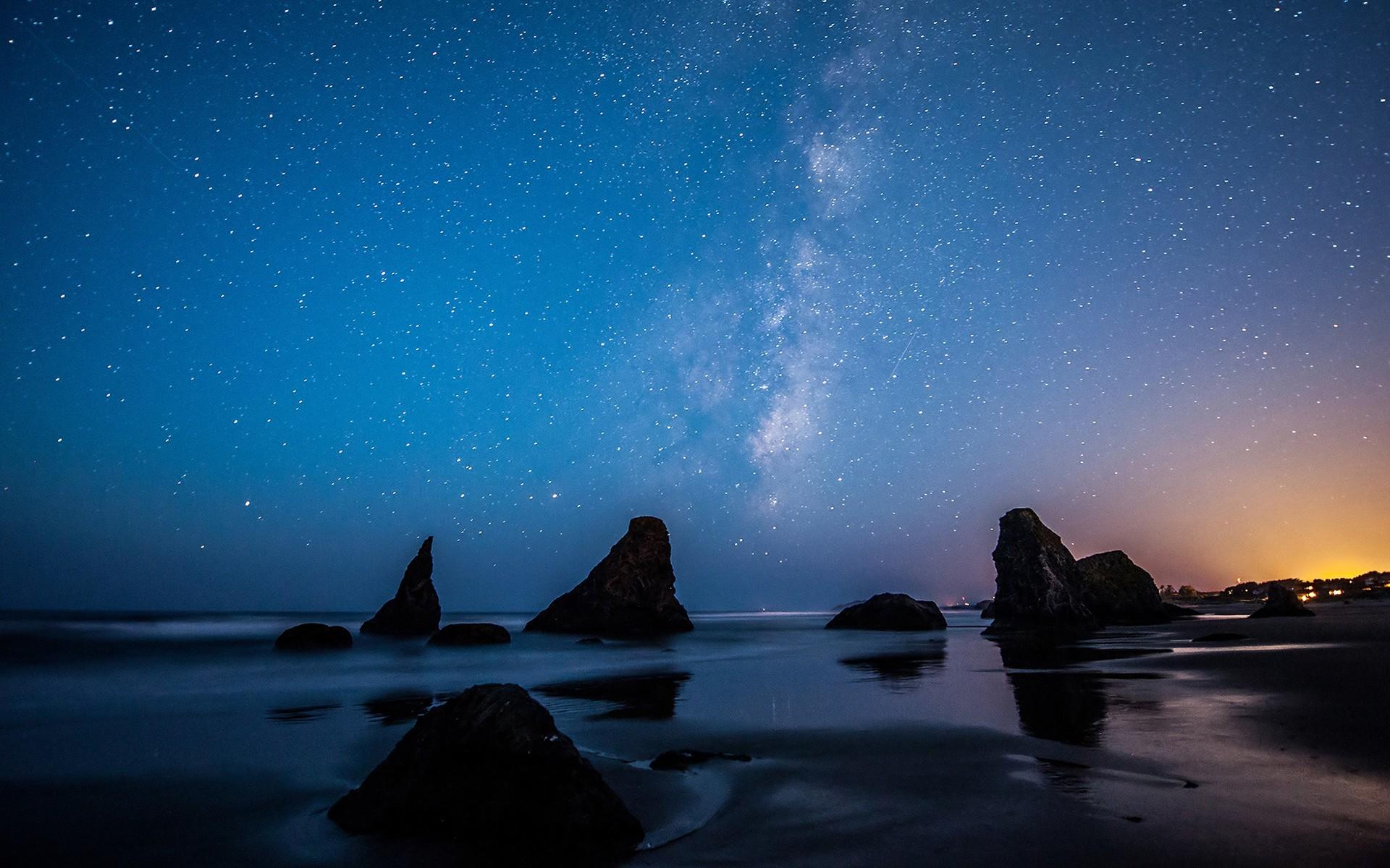 Papel De Parede Panorama Mar Noite Gal 225 Xia Reflex 227 O