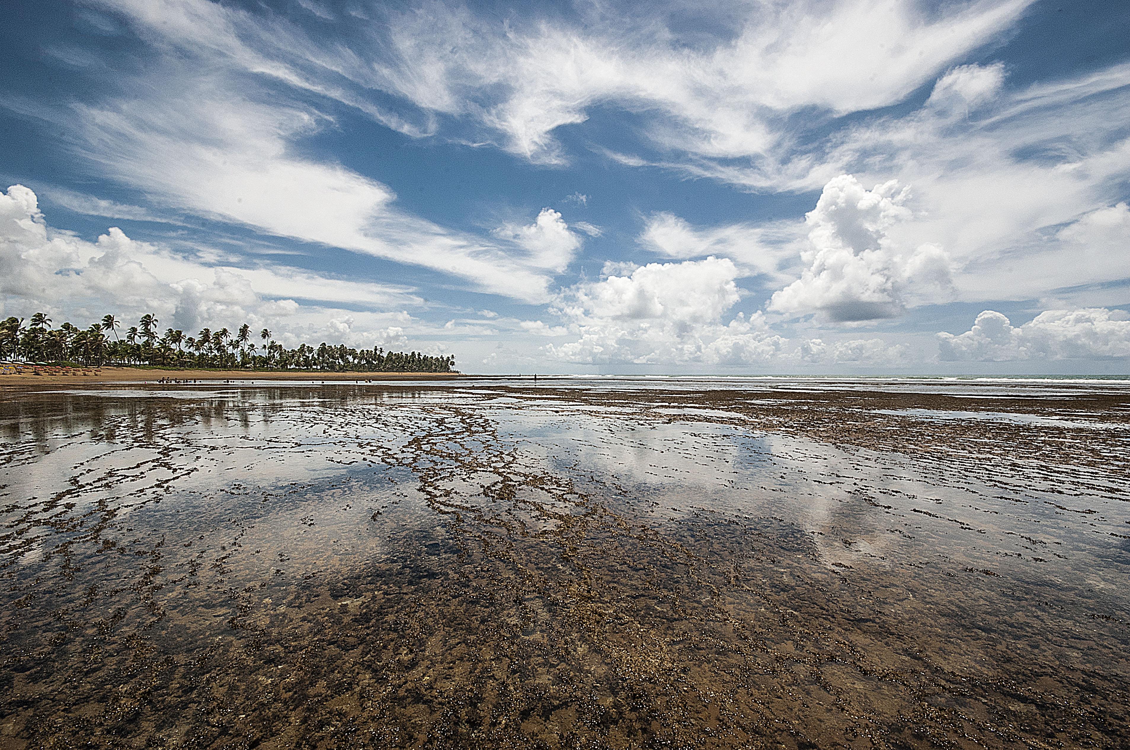 Wallpaper Landscape Sea Water Shore Sand Reflection