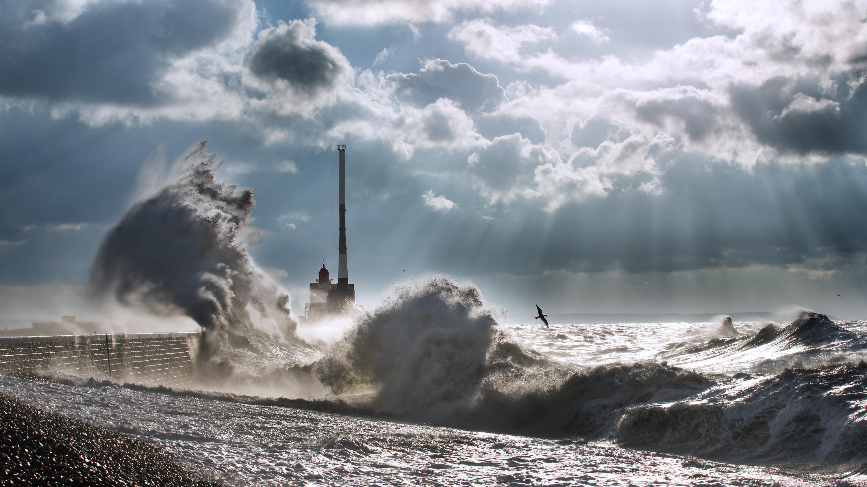 Fond d'écran : paysage, mer, eau, rive, ciel, orage, côte, nuage, arbre, océan, vague, marée ...
